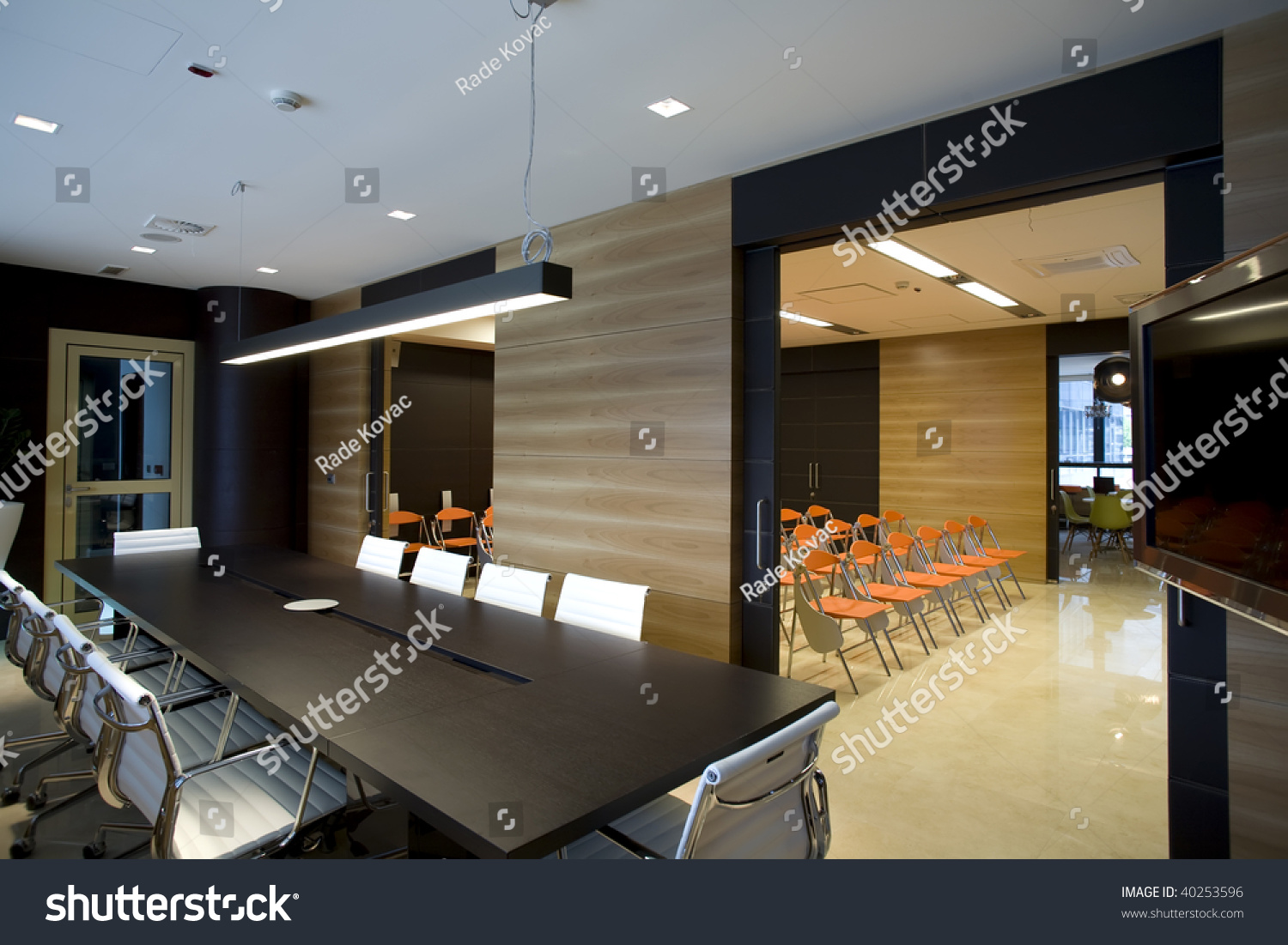 Interior Modern Boardroom View Conference Room Stock Photo