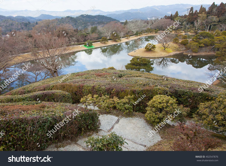 Shugakuin Imperial Villa Winter Garden Lake Stock Photo (Edit Now ...