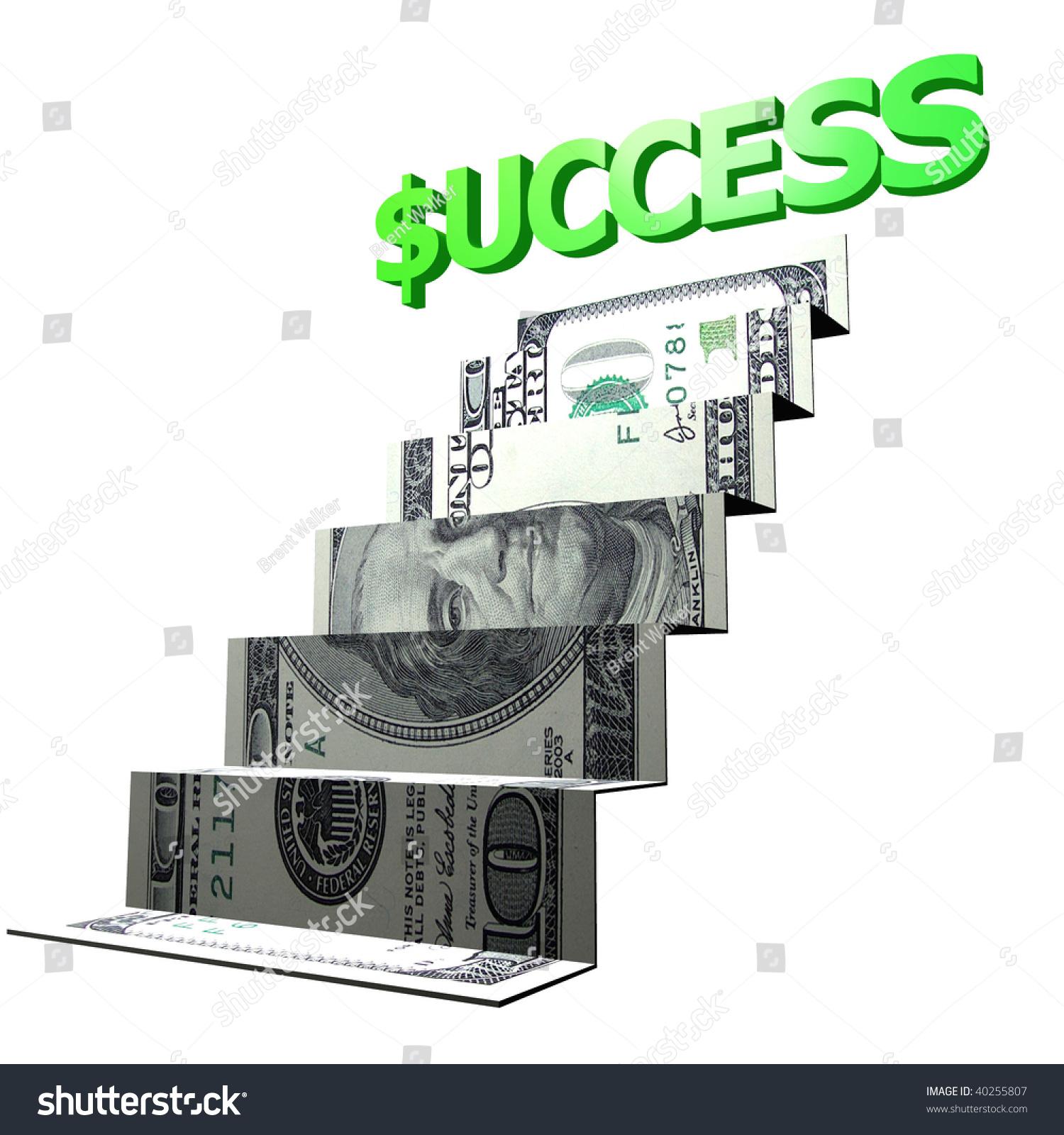 ladder shape money origami art illustration 40255807