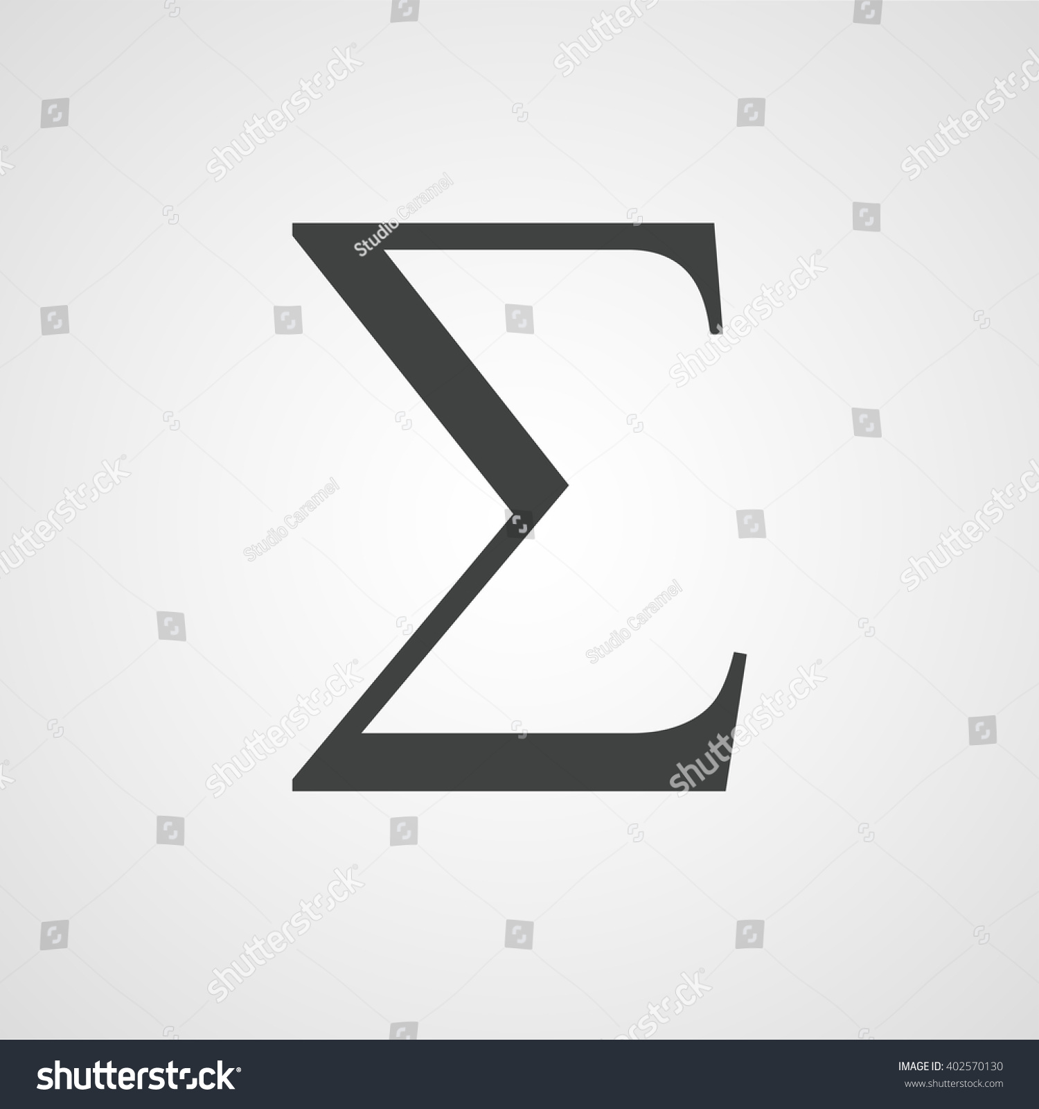 Sigma symbol latin letter sign vector stock vector 402570130 sigma symbol latin letter sign vector biocorpaavc Choice Image