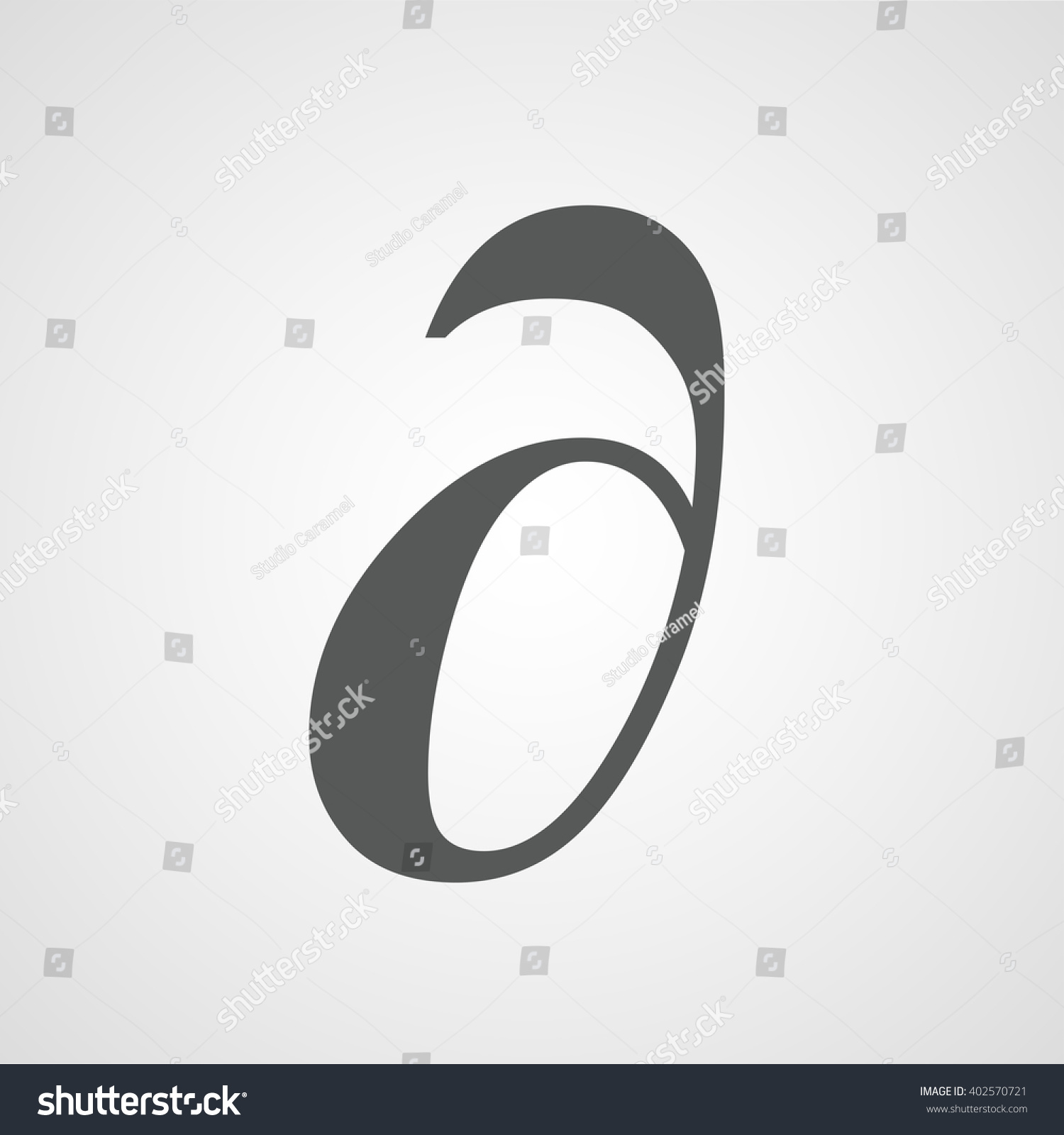 Delta Icon Latin Letter Vector Symbol Stock Vector Royalty Free