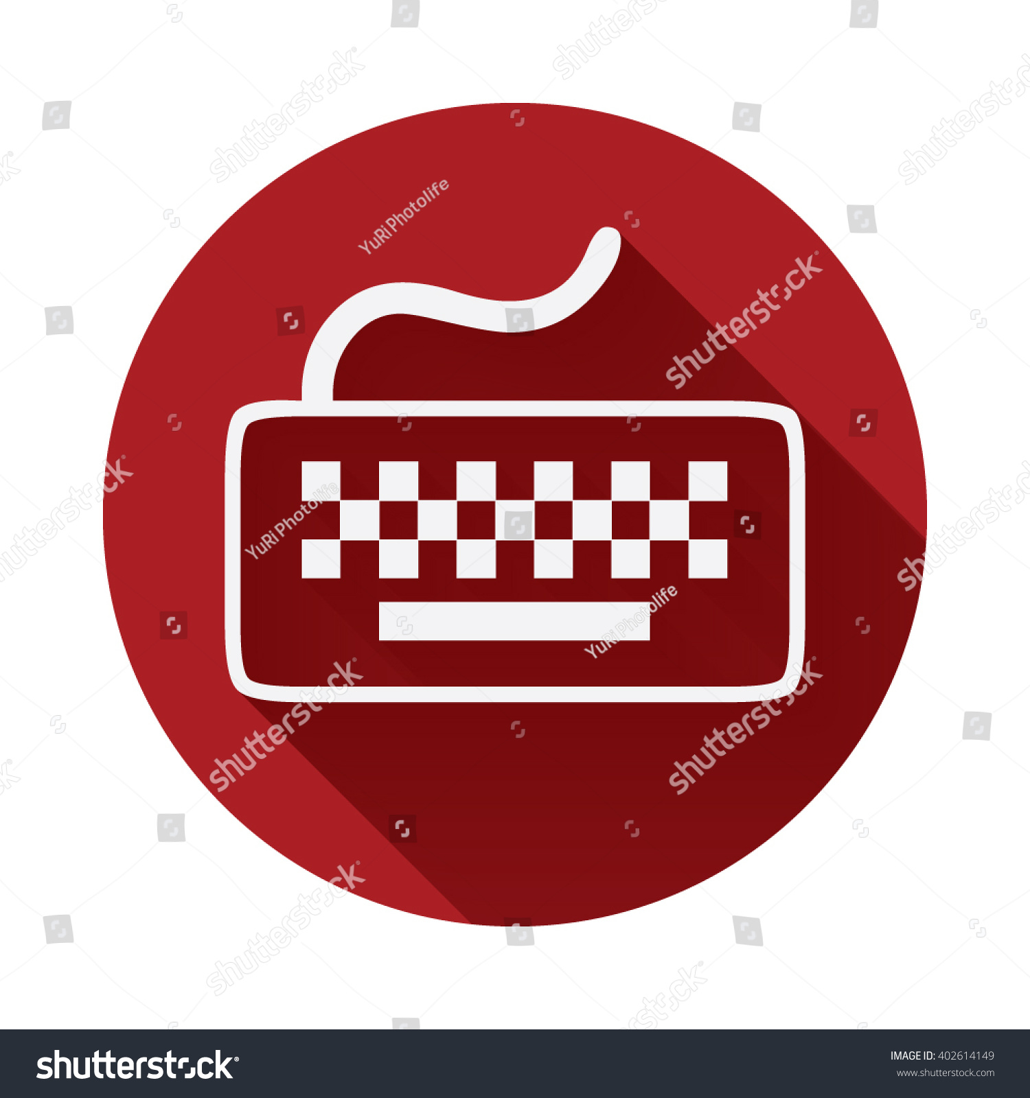 Keyboard Icon Keyboard Symbol Long Shadow Stock Vector Royalty Free