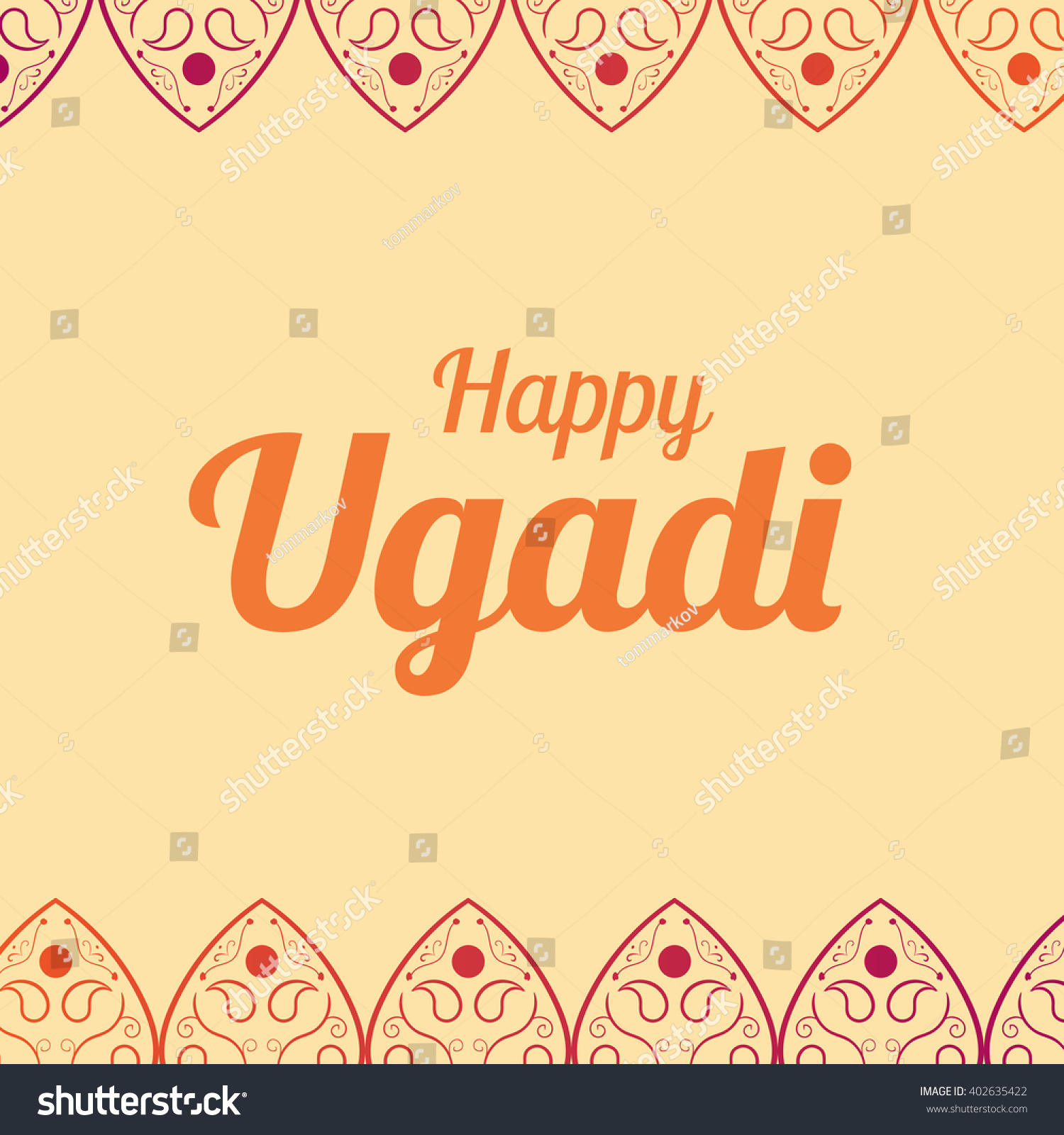 happy ugadi card template holiday poster stock vector  happy ugadi card template holiday poster vector