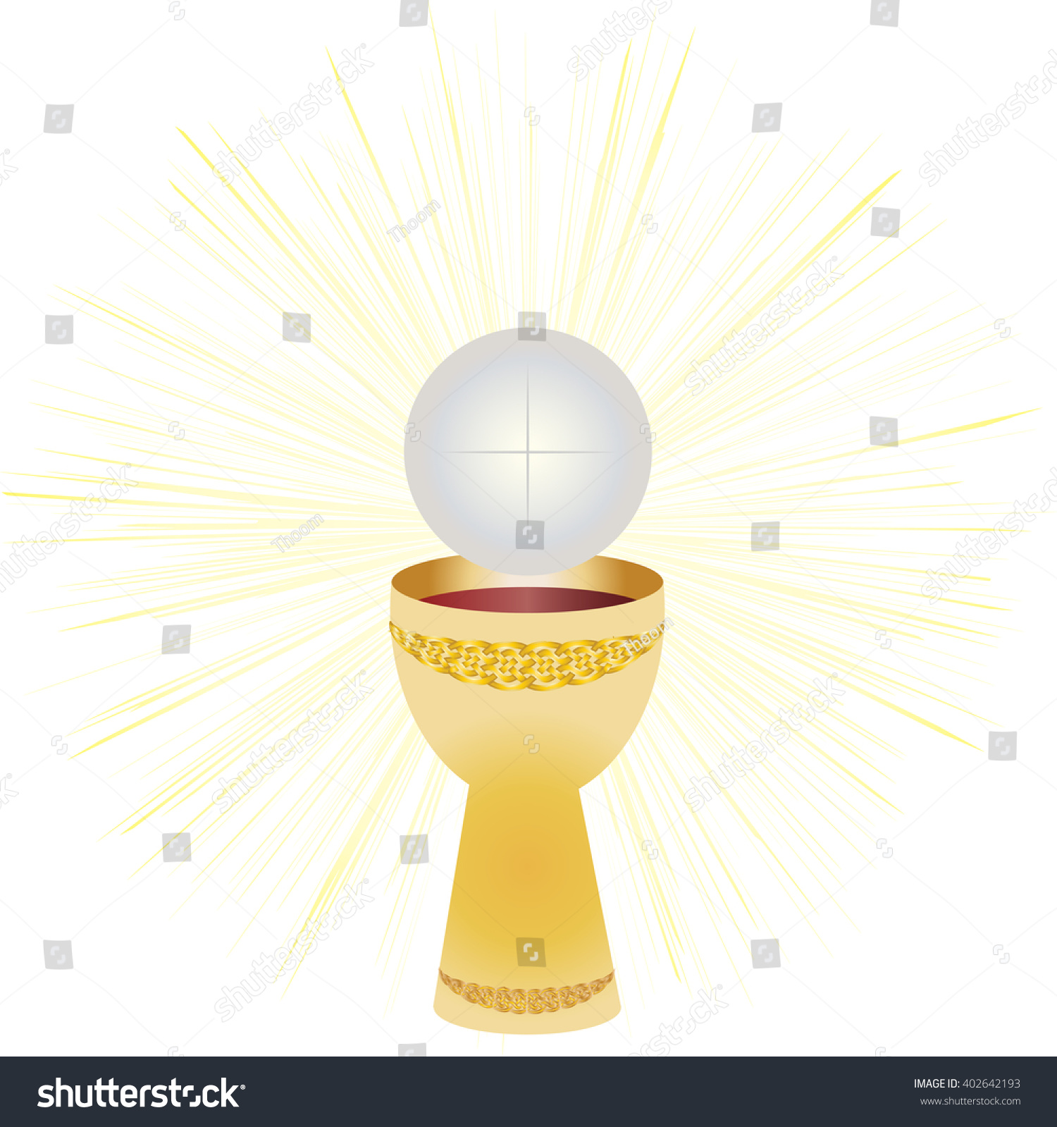 Eucharist Symbols Bread Wine Chalice Host Stock Vector ...