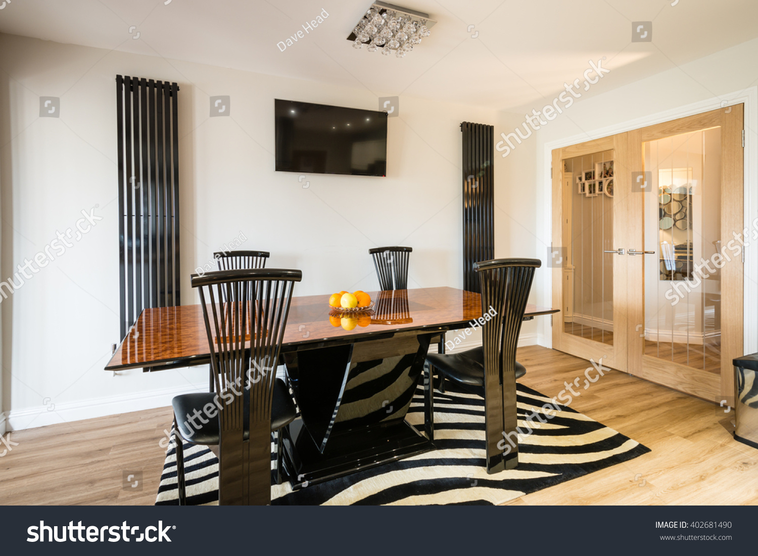 Large Kitchen Dining Room Modern Dining Area Contemporary Dining Area Stock Photo 402681490