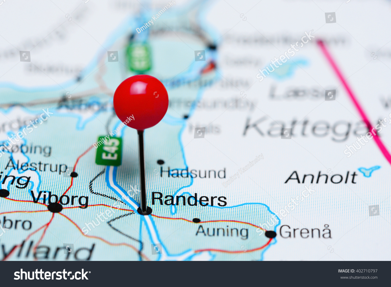 Randers Pinned On Map Denmark Stock Photo 402710797 Shutterstock