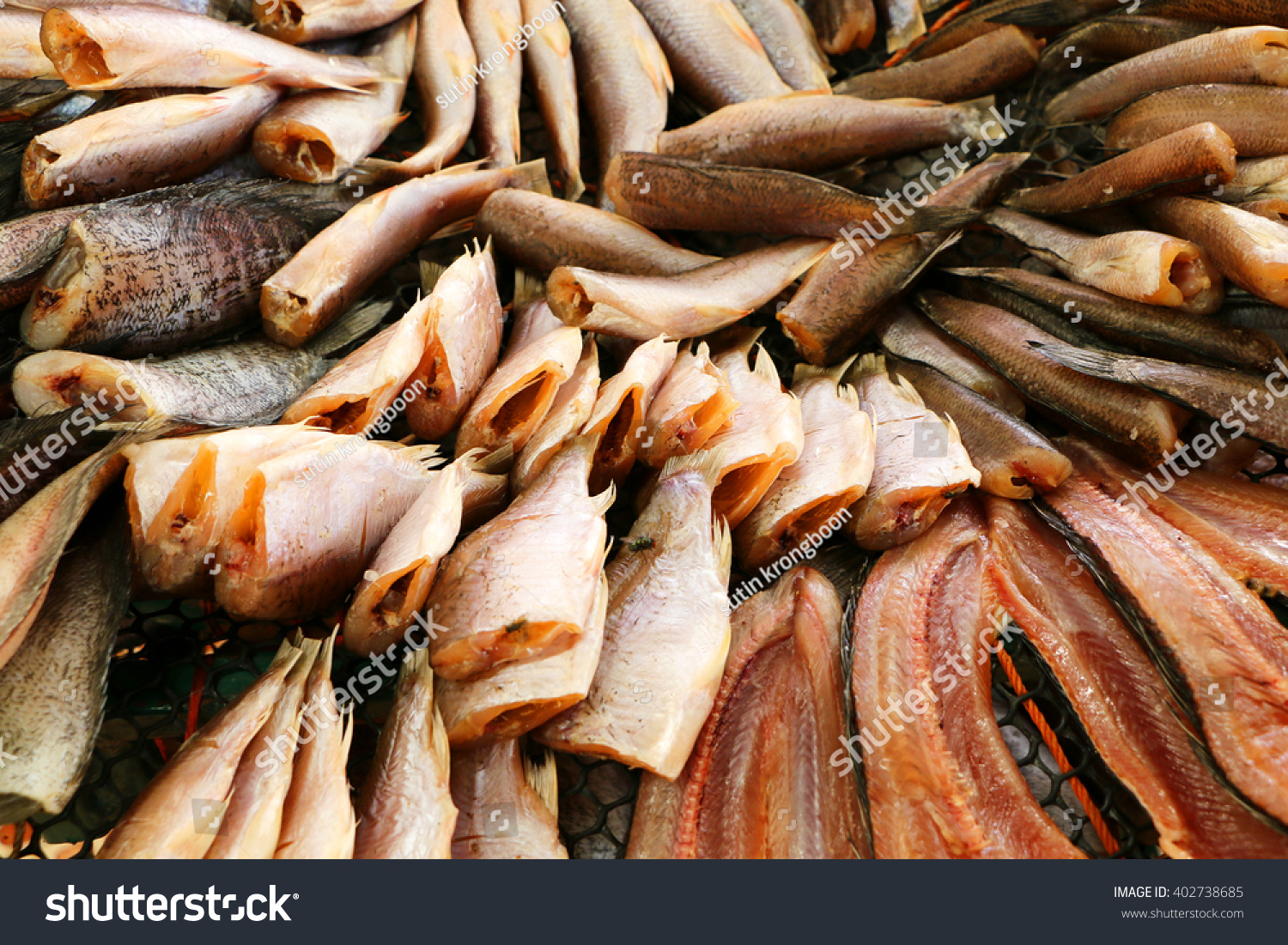 Dried fish flies ls land stock photo 402738685 shutterstock for Dry land fish