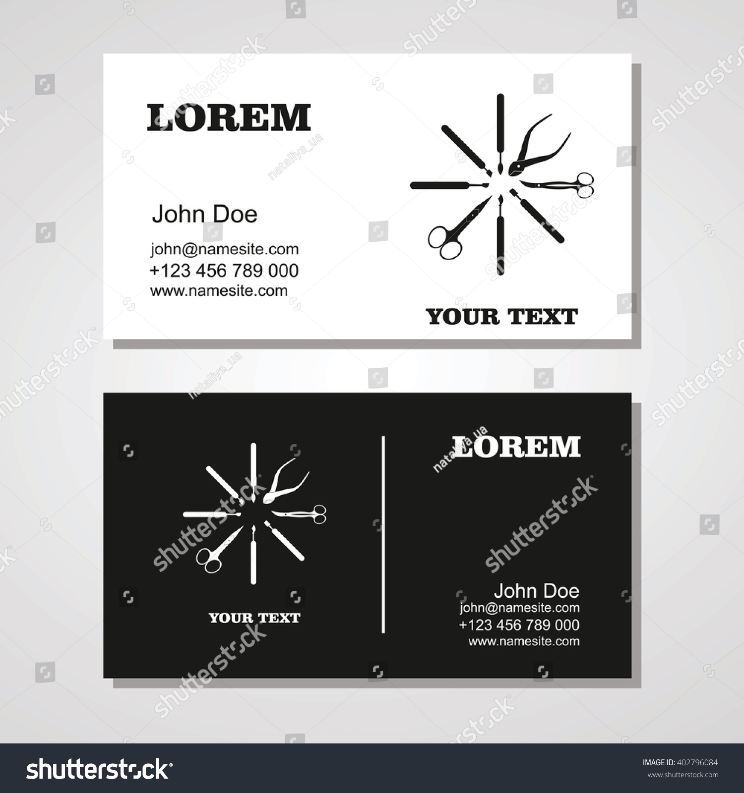 Manicure salon business card design templates stock vector royalty manicure salon business card design templates setauty business card templatet of business friedricerecipe Images
