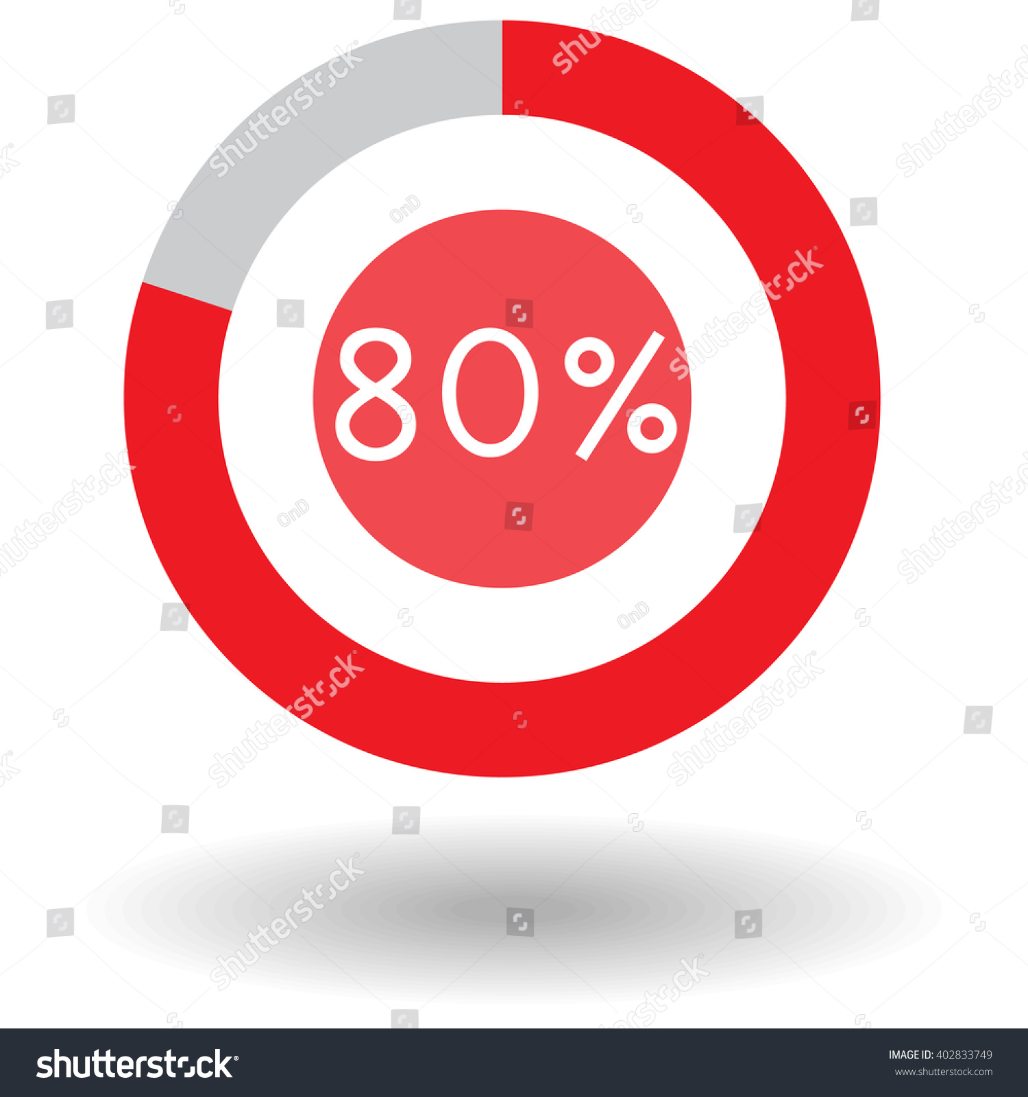 Icon business colorful pie chart circle stock vector 402833749 icon business colorful pie chart circle graph 80 red vector illustration nvjuhfo Choice Image