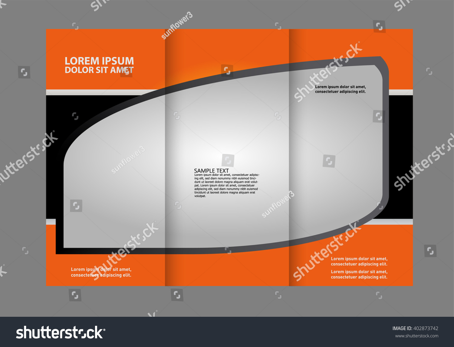 Custom Trifold Brochure Template Works Great Stock Vector - Custom brochure templates