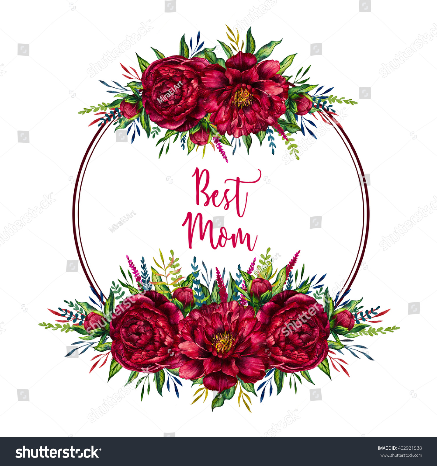 Royalty Free Stock Illustration of Mothers Day Card Floral Frame ...