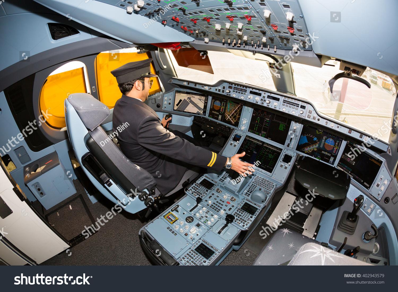 Dubai uae november 08 2015 qatar airways pilot at work qatar