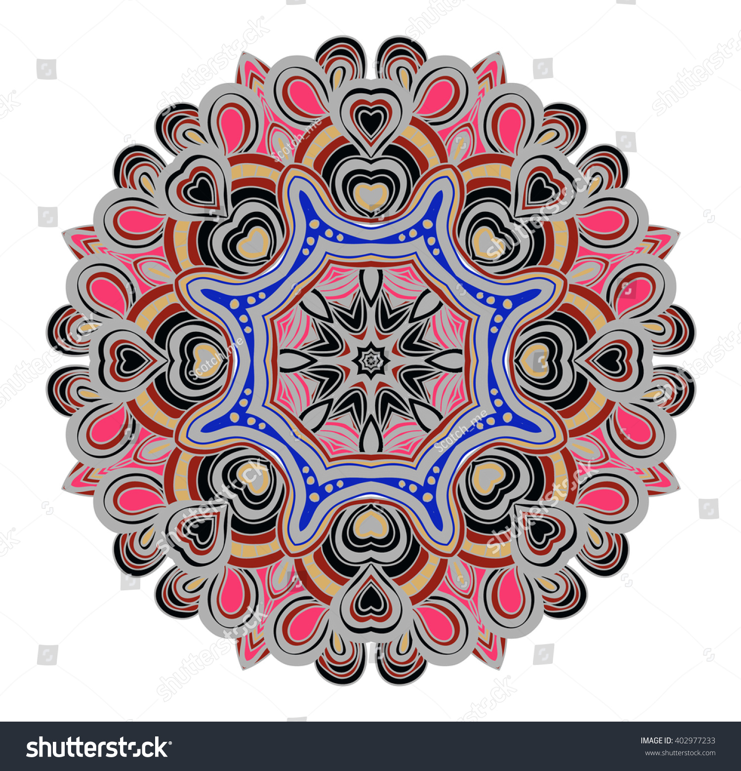 vector symmetrical pattern pink blue grey stock vector 402977233