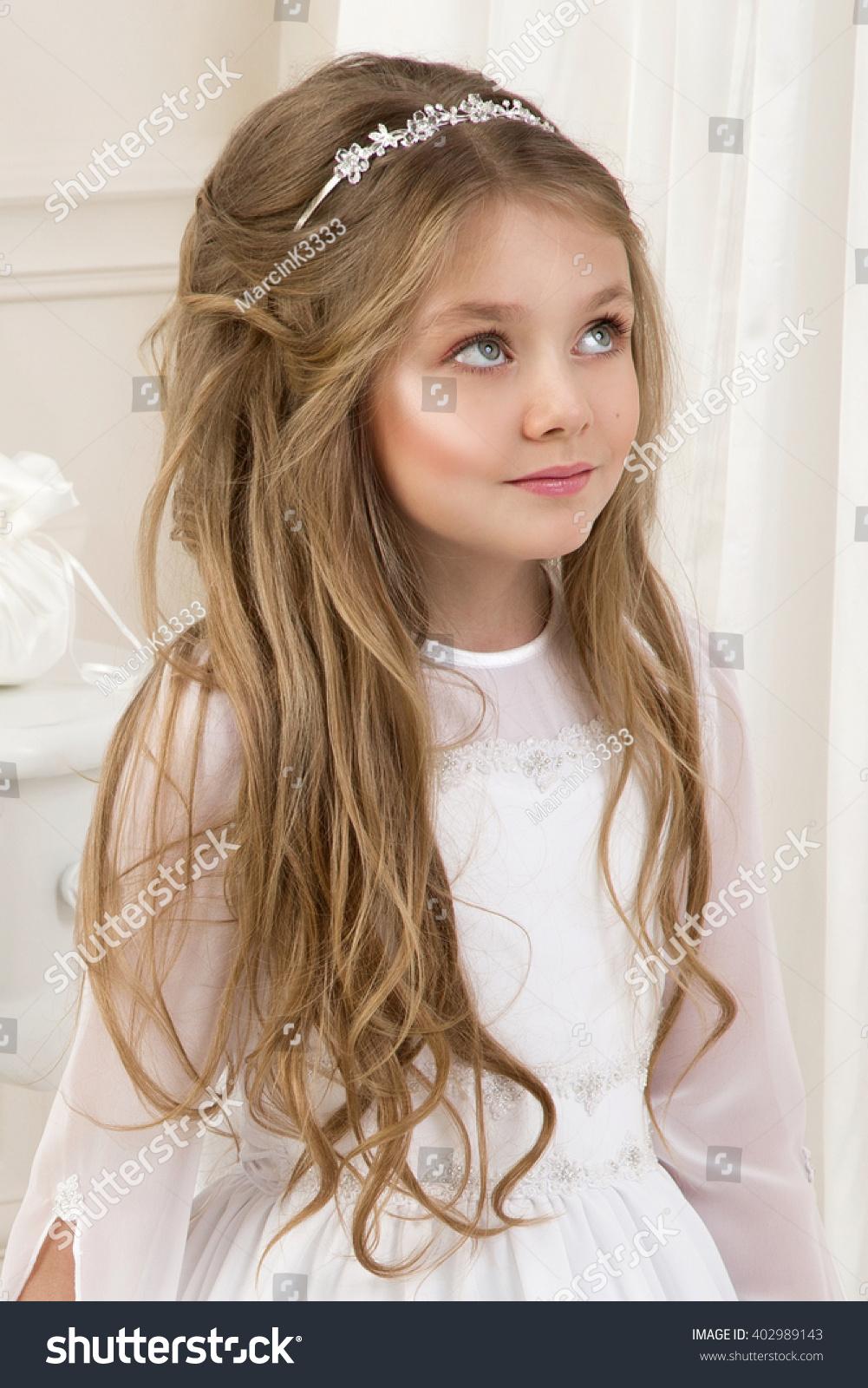 Beautiful Girl Little Princess Long Hair Stock Photo Edit