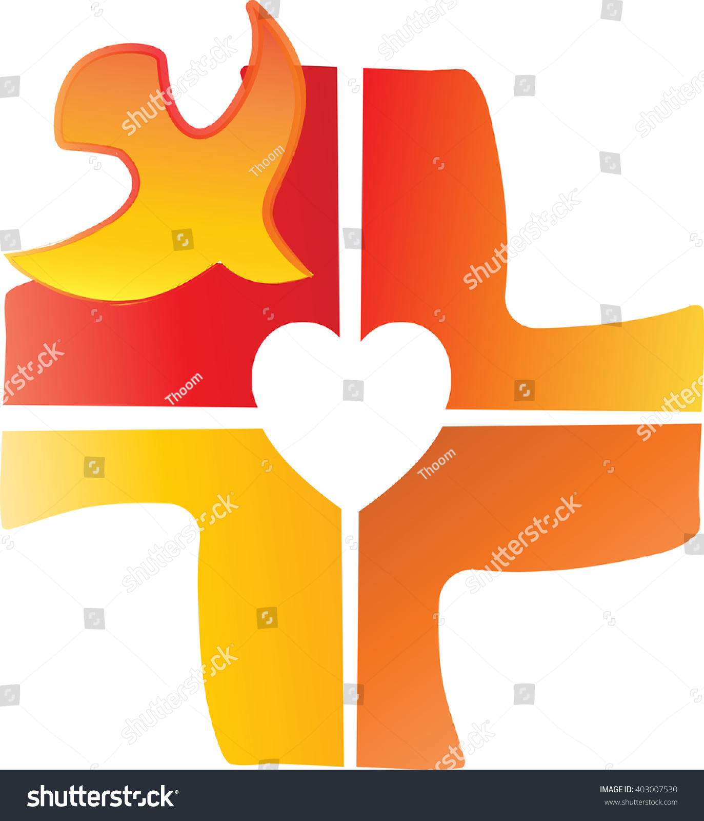 Dove symbol holy spirit on cross stock vector 403007530 shutterstock a dove symbol of the holy spirit on a cross carved in a shape of biocorpaavc Image collections
