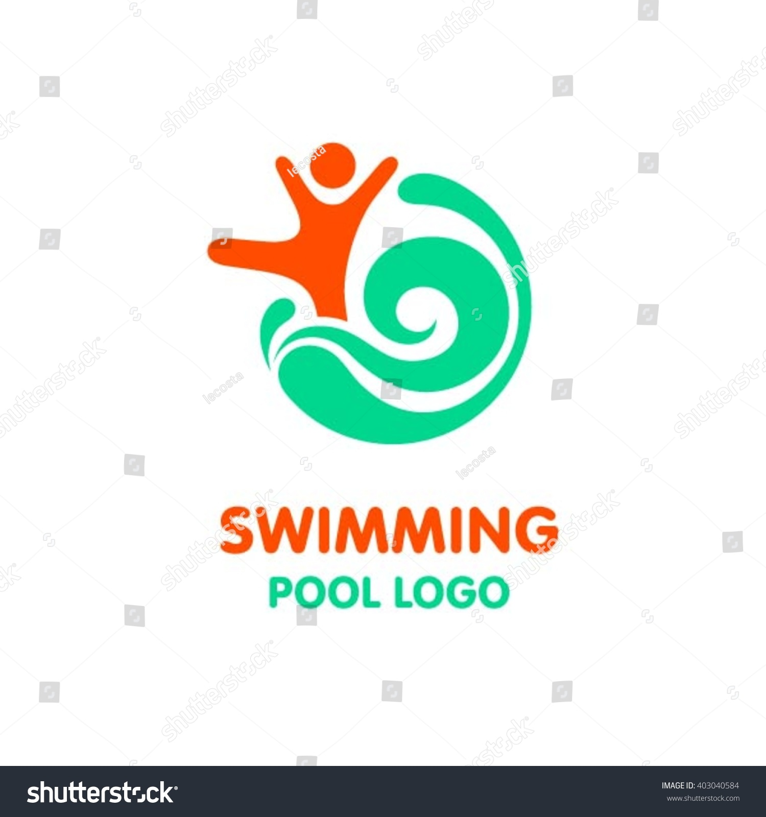 kids swimming pool logo design