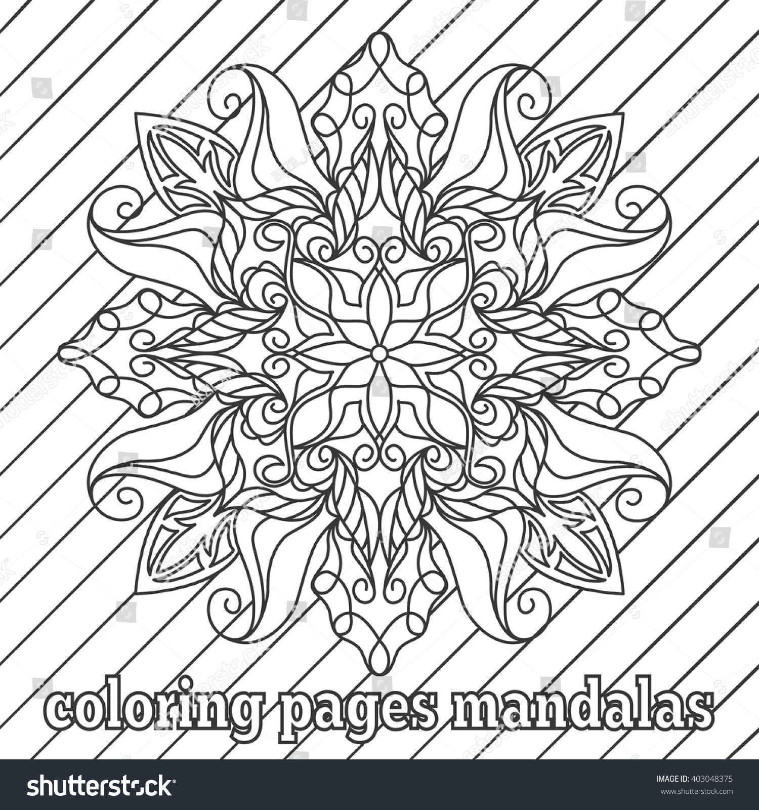 coloring pages adults older children patterns stock vector 403048375 shutterstock - Pattern Coloring Pages For Adults