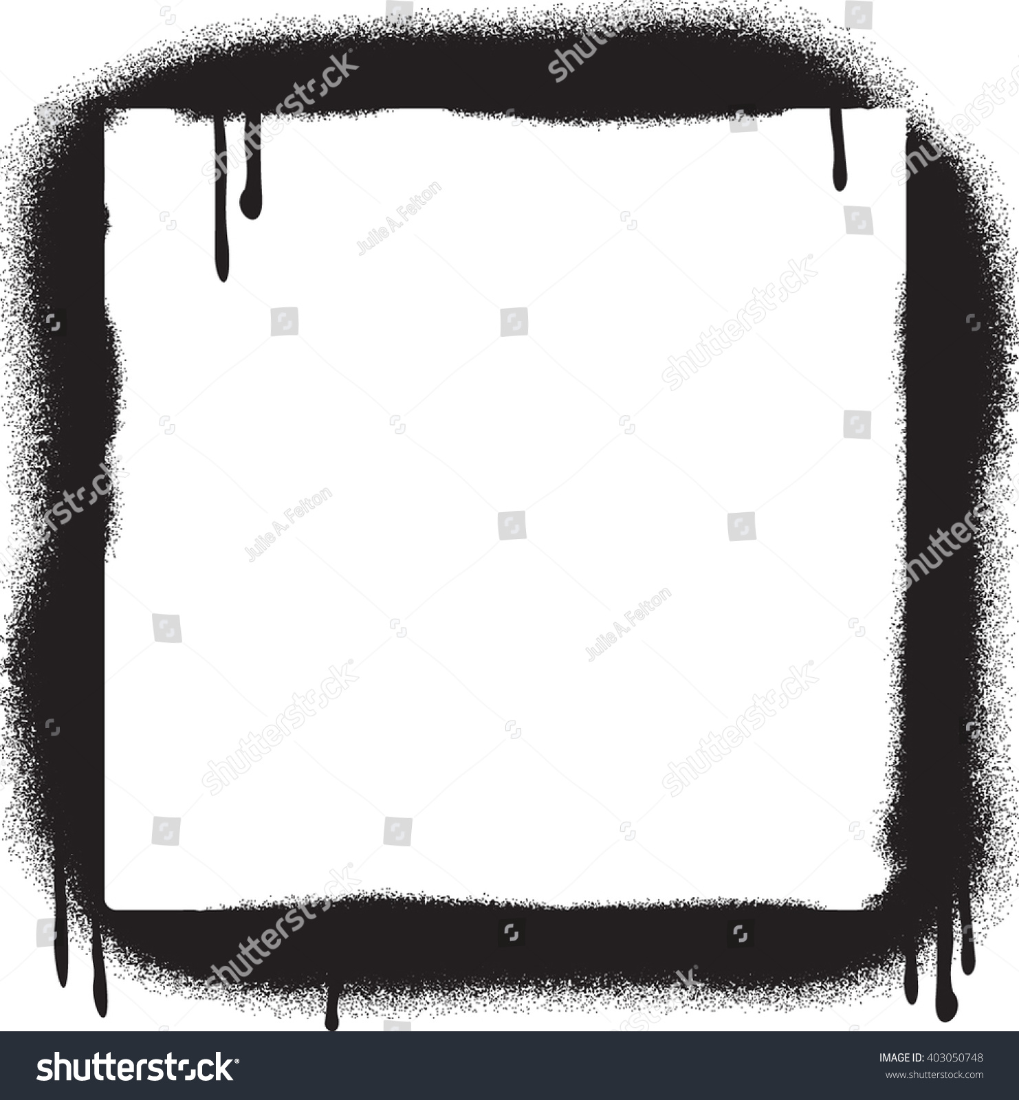 Grunge Graffiti Spray Paint Border Frame Stock-Vektorgrafik ...