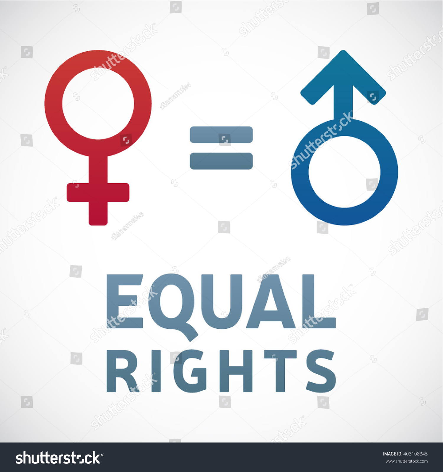 Equal Rights Concept Men Women Female Stock Vector Royalty Free