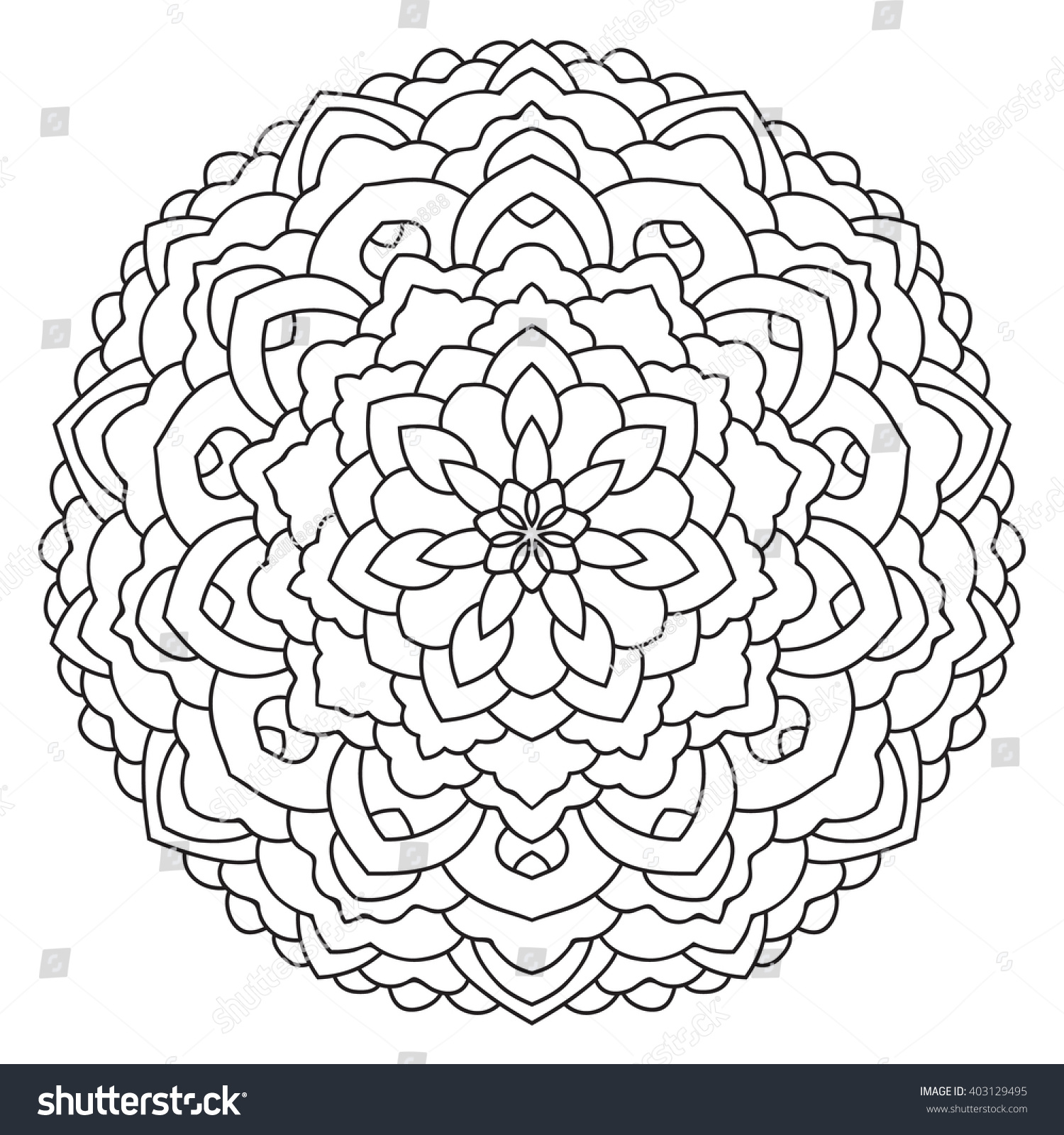 oriental pattern coloring page for adults turkish islamic preview save to a lightbox