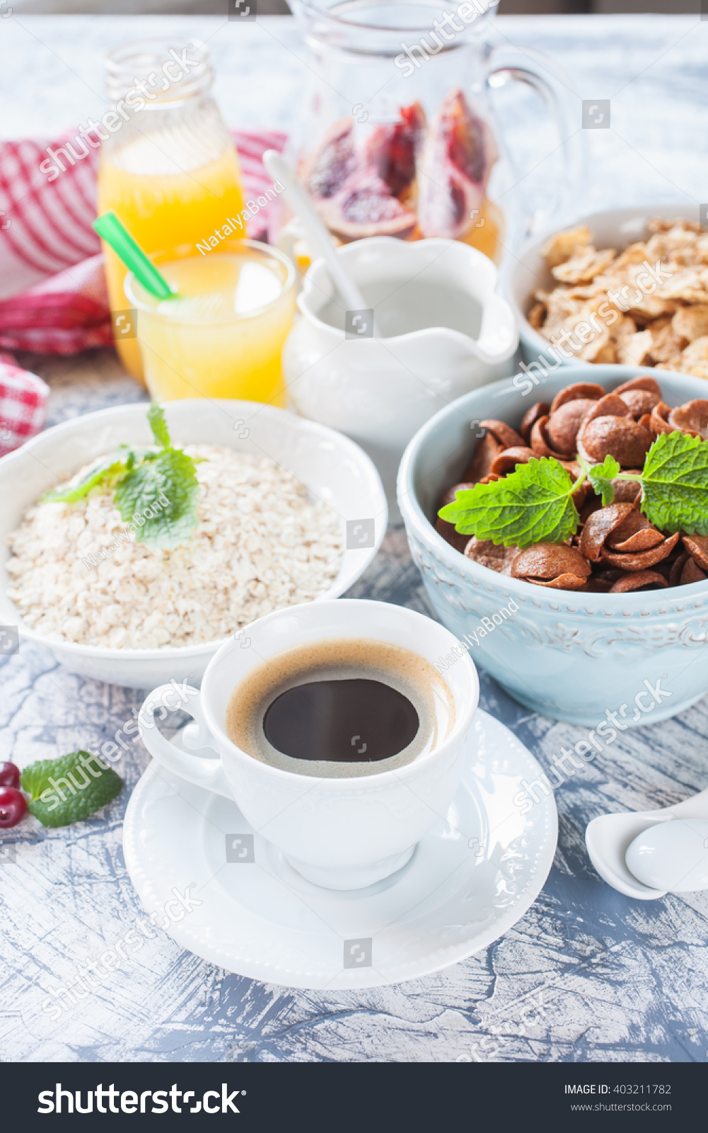 coffee grain flakes on table selective stock photo 403211782 shutterstock. Black Bedroom Furniture Sets. Home Design Ideas