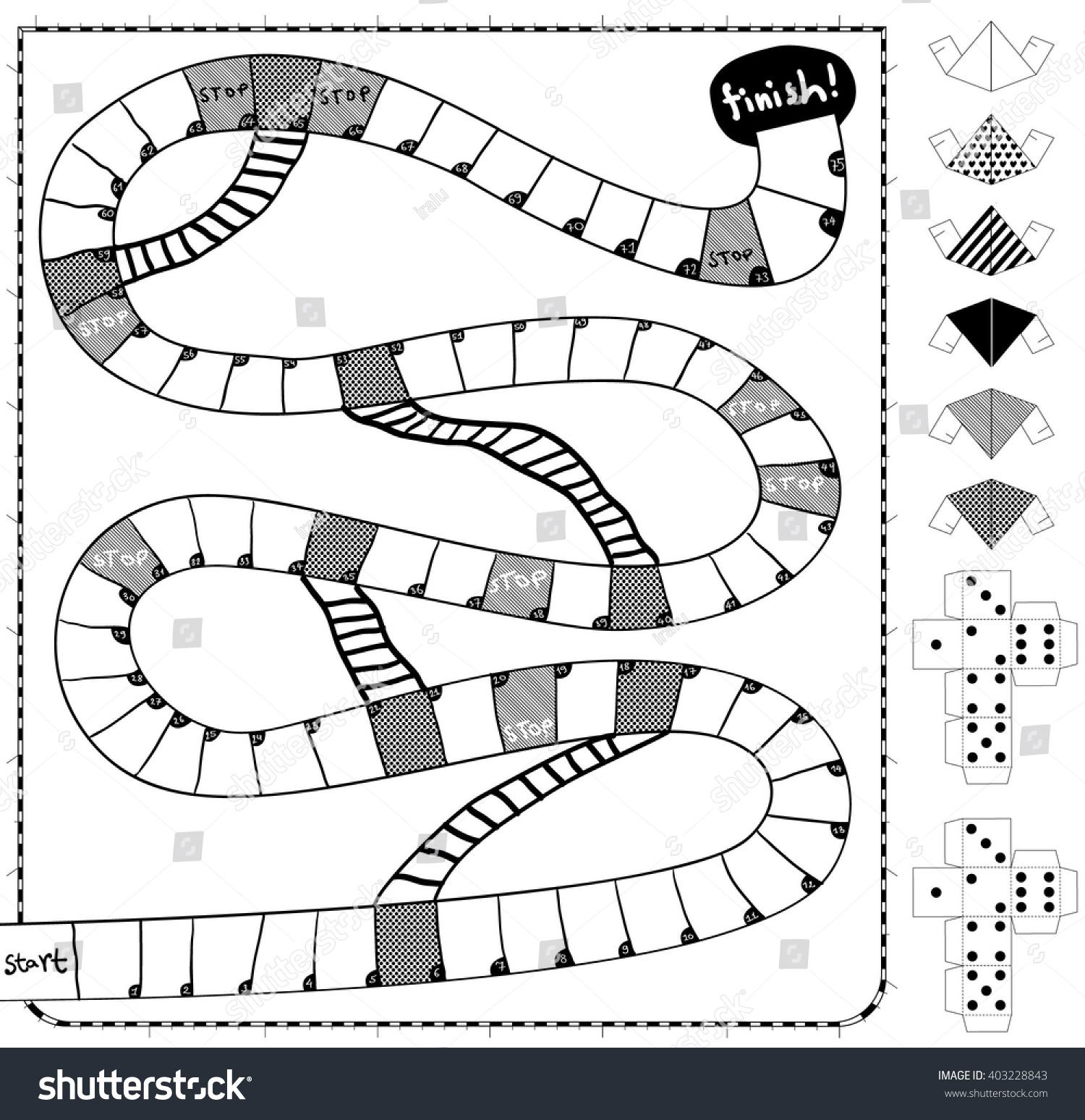 Board Game Template Create Games On Stock Vector Royalty Free