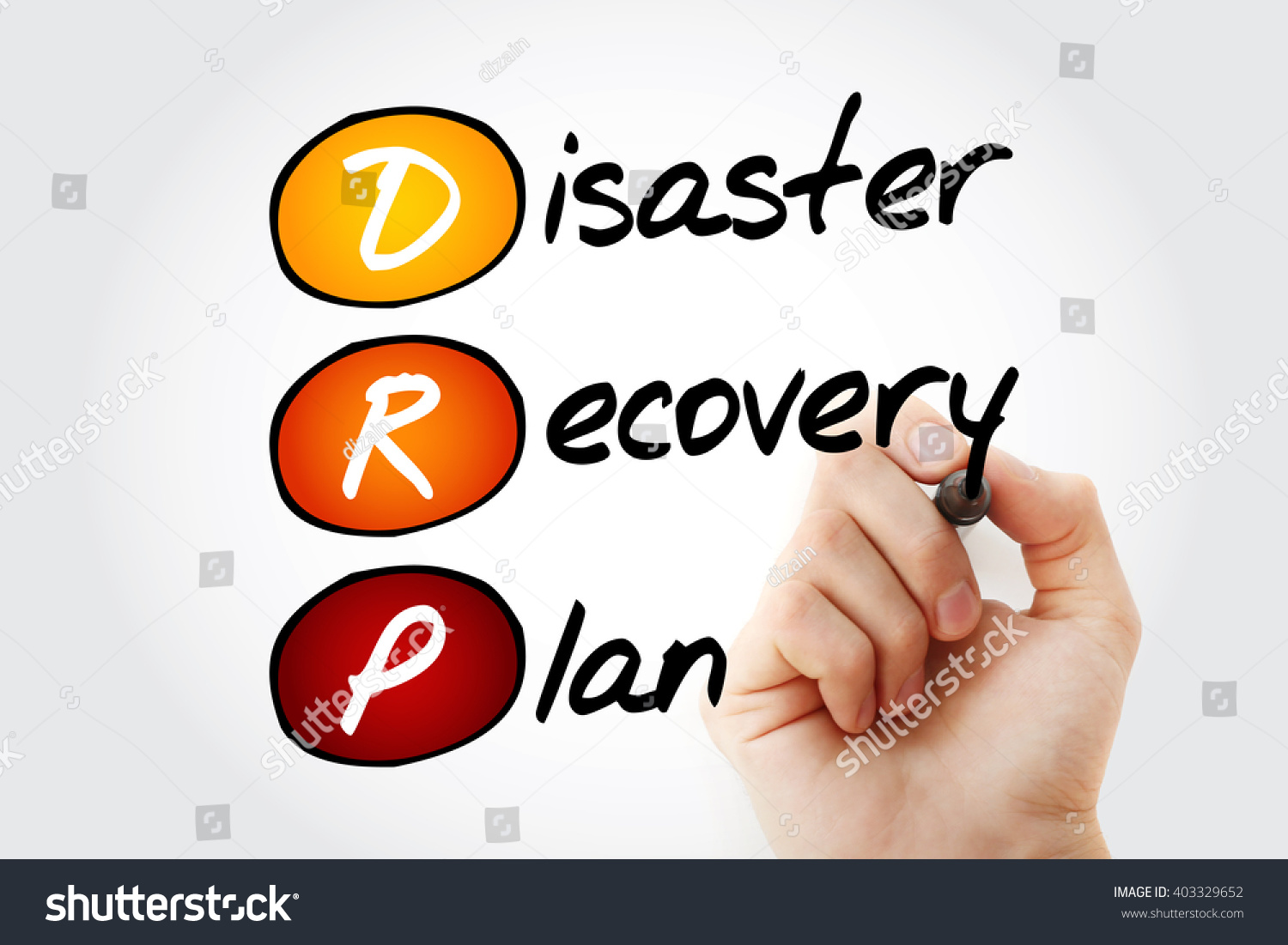 Hand Writing Drp Disaster Recovery Plan Stock Illustration ...