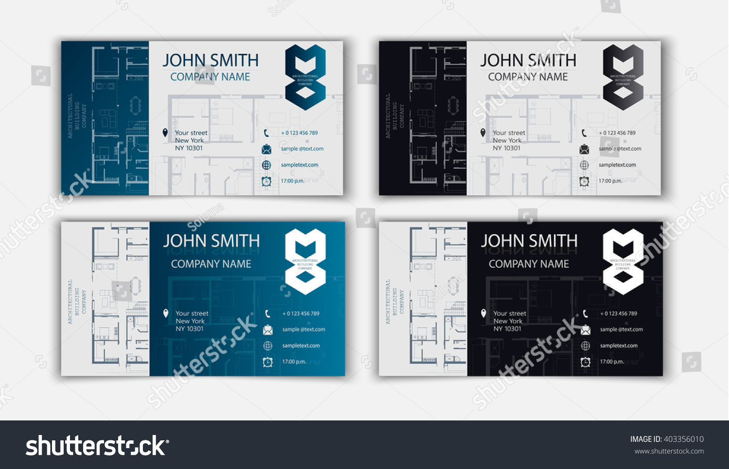 Business Card Architect Stock Vector Royalty Free 403356010