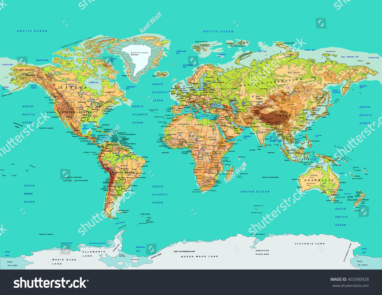 Map World Vector Illustration Names Countries Vector – Map World Cities
