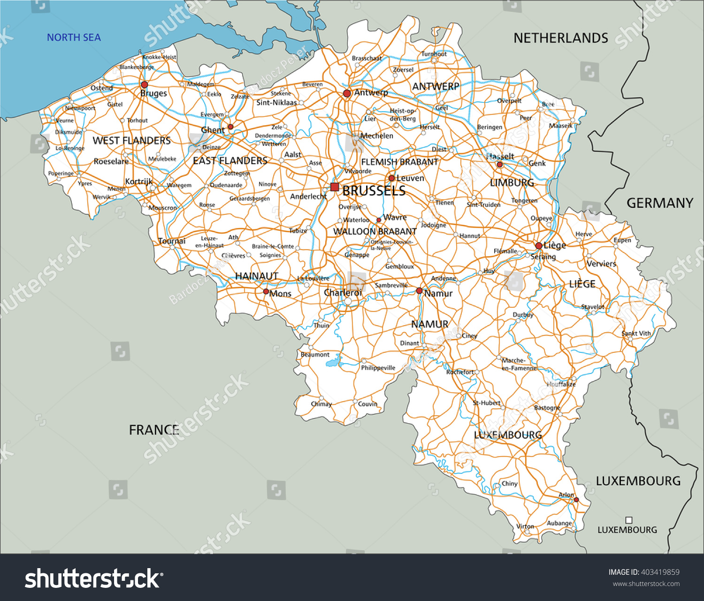 Maps Update 14121172 Belgium Road Map Road Map of Belgium – Belgium on the World Map