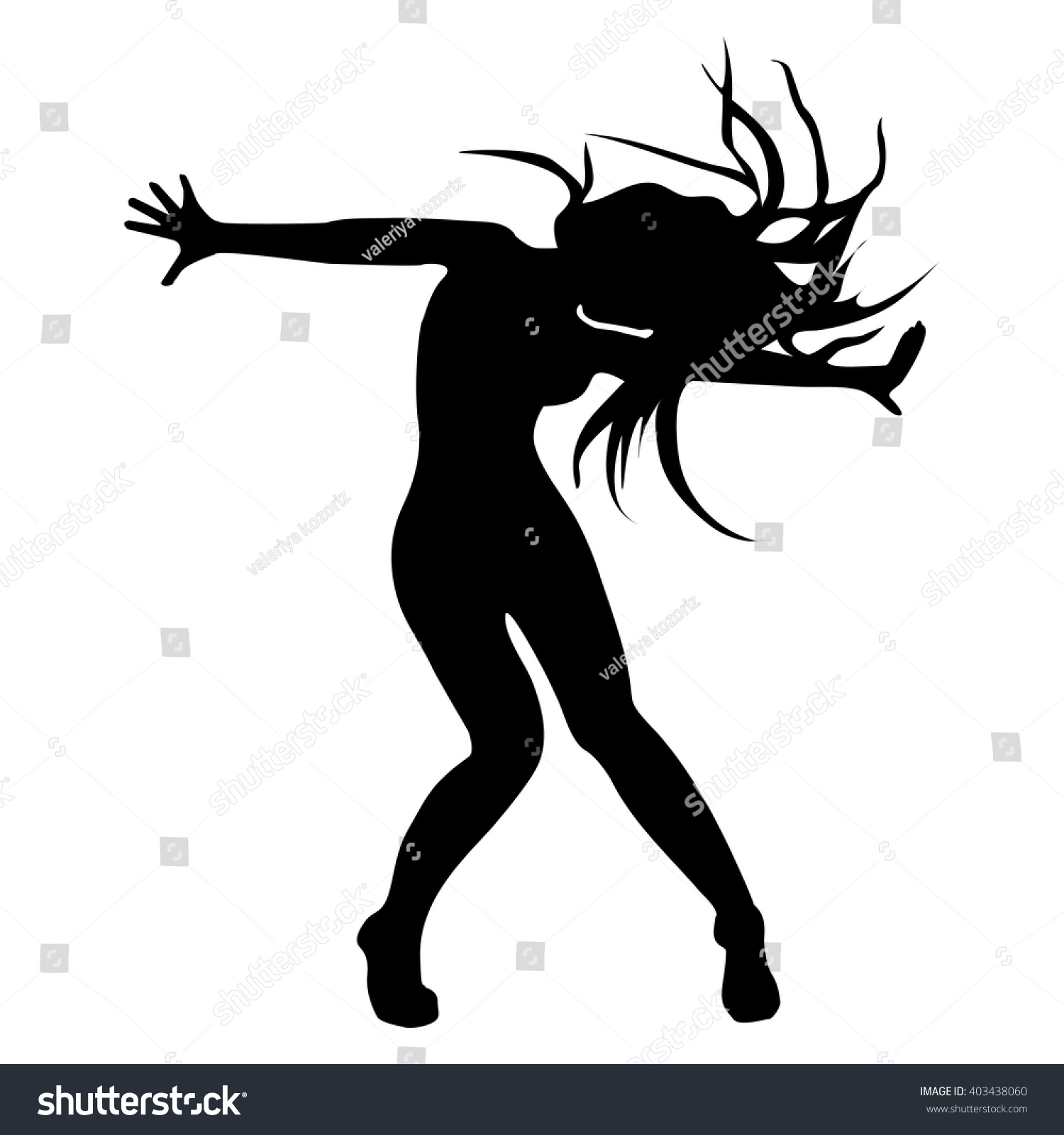 Dance Silhouette Jazz Funk Stock Vector (Royalty Free) 403438060