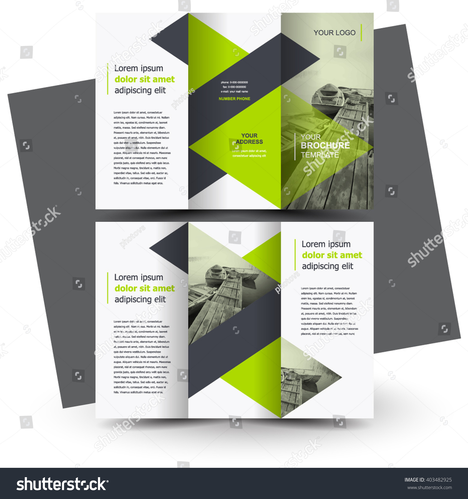 Creative Brochure Design Templates: Brochure Design, Brochure Template, Creative Tri-Fold