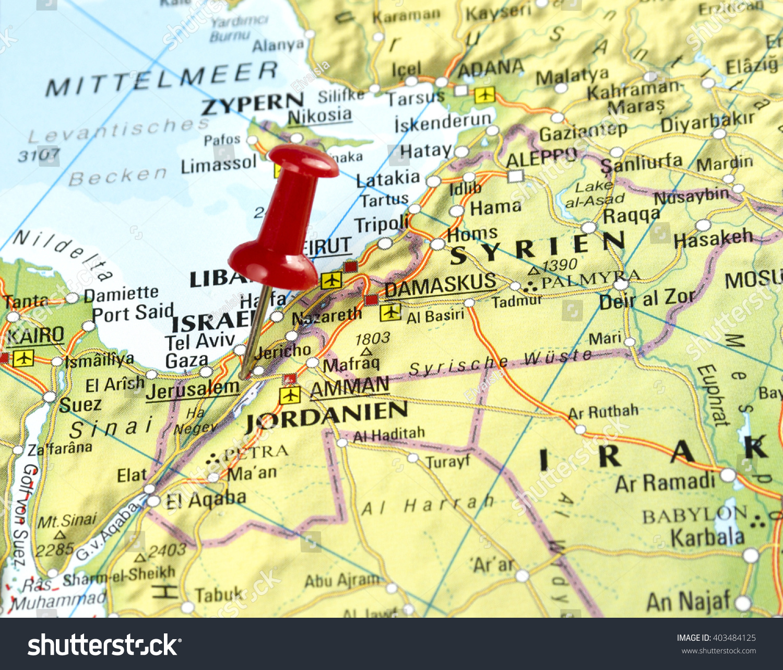 Map israel pin set on jerusalem stock photo edit now 403484125 map of israel with pin set on jerusalem gumiabroncs Image collections