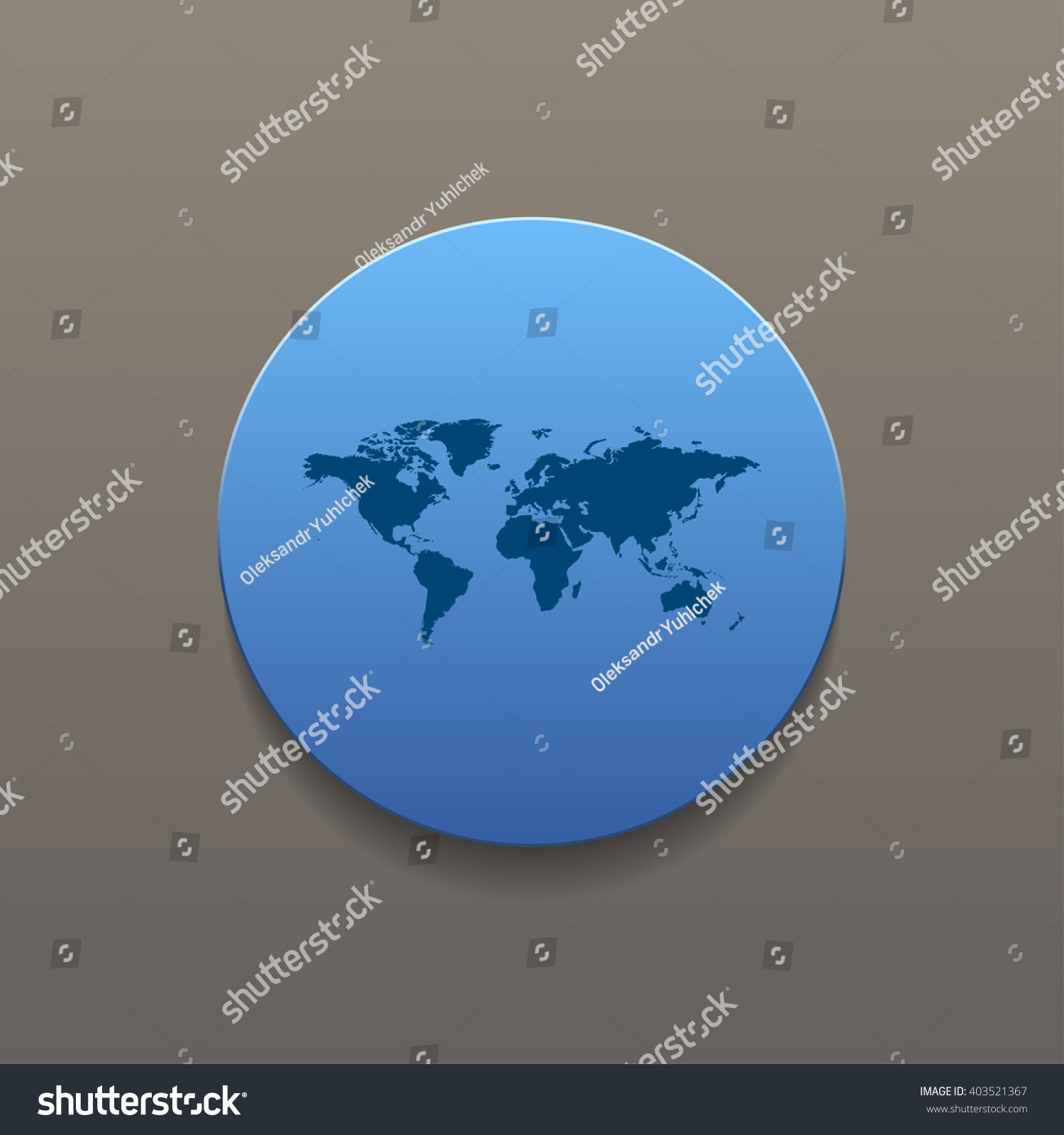 World map illustration flat design style stock vector 403521367 world map illustration flat design style eps 10 gumiabroncs Images