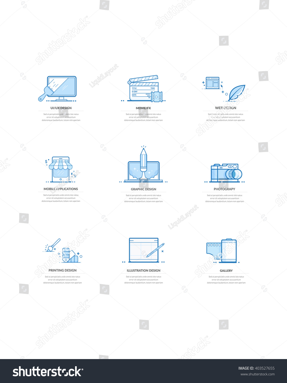 Website Template Elements concept Icons Personal Company – Company Portfolio Template