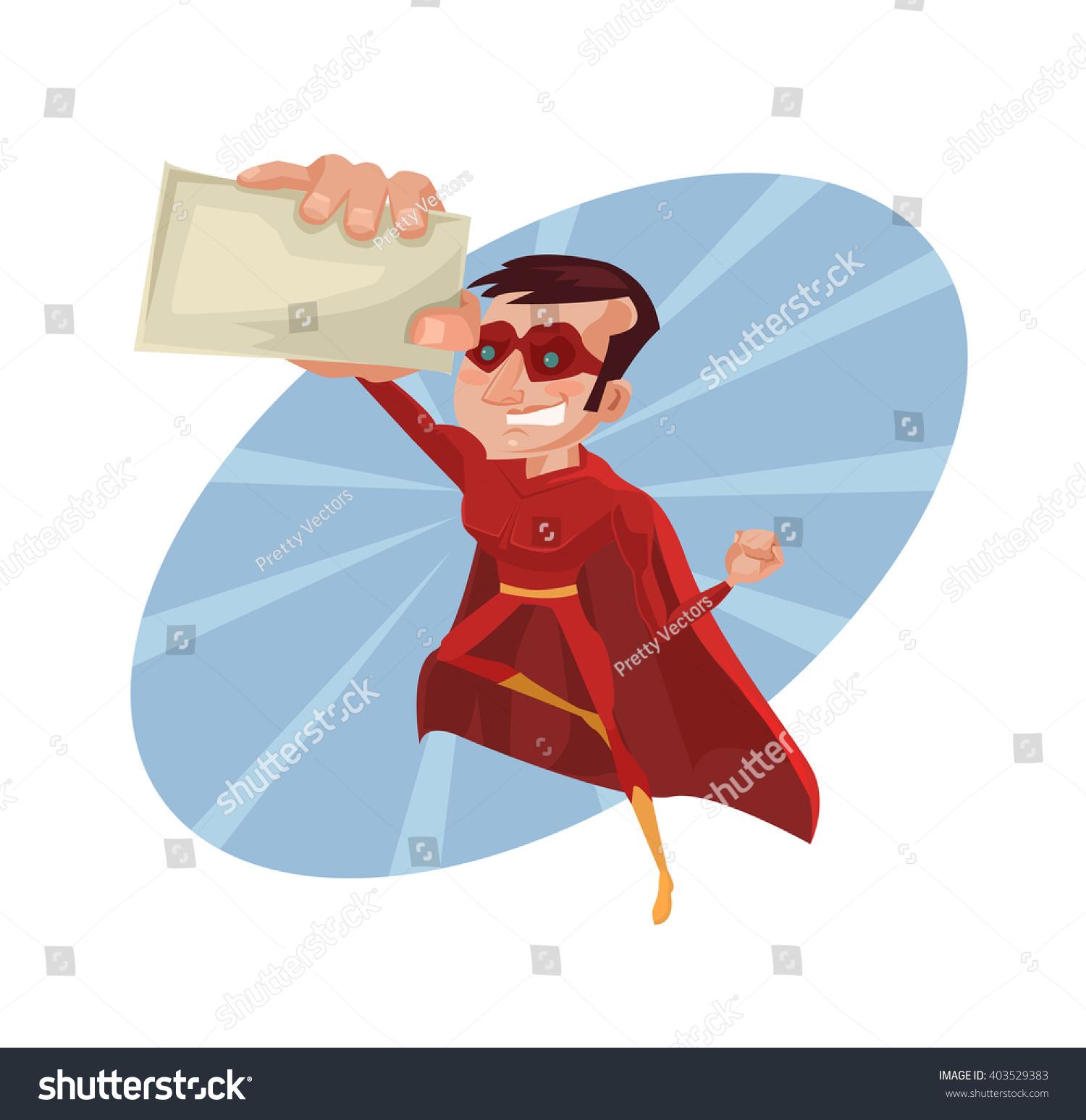 Superhero Business Card Vector Flat Cartoon Stock Vector 403529383 ...