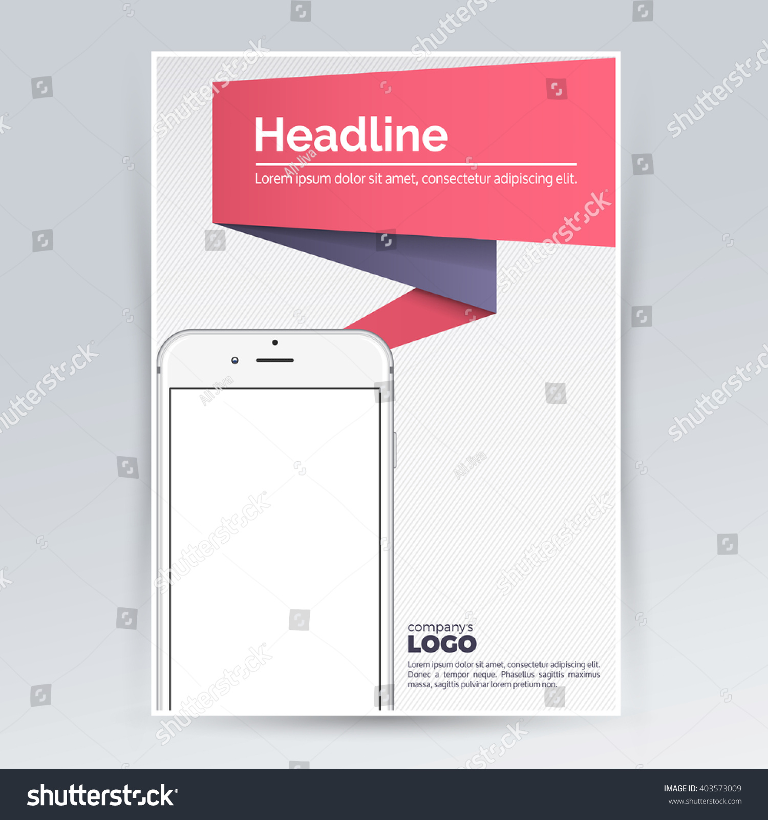 Brochure Design Template Smartphone Advertising Creative – Pamphlet Layout Template