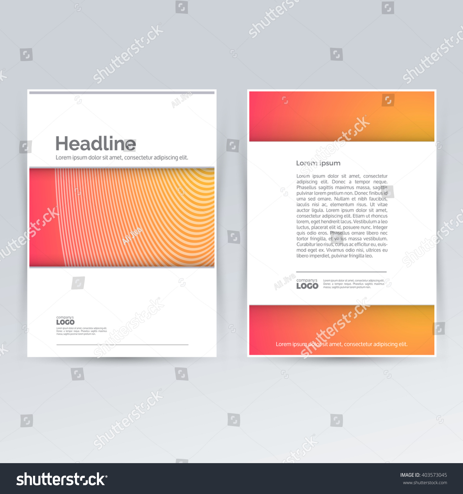 Brochure Design Template Advertising Creative Leaflet Vector – Pamphlet Layout Template
