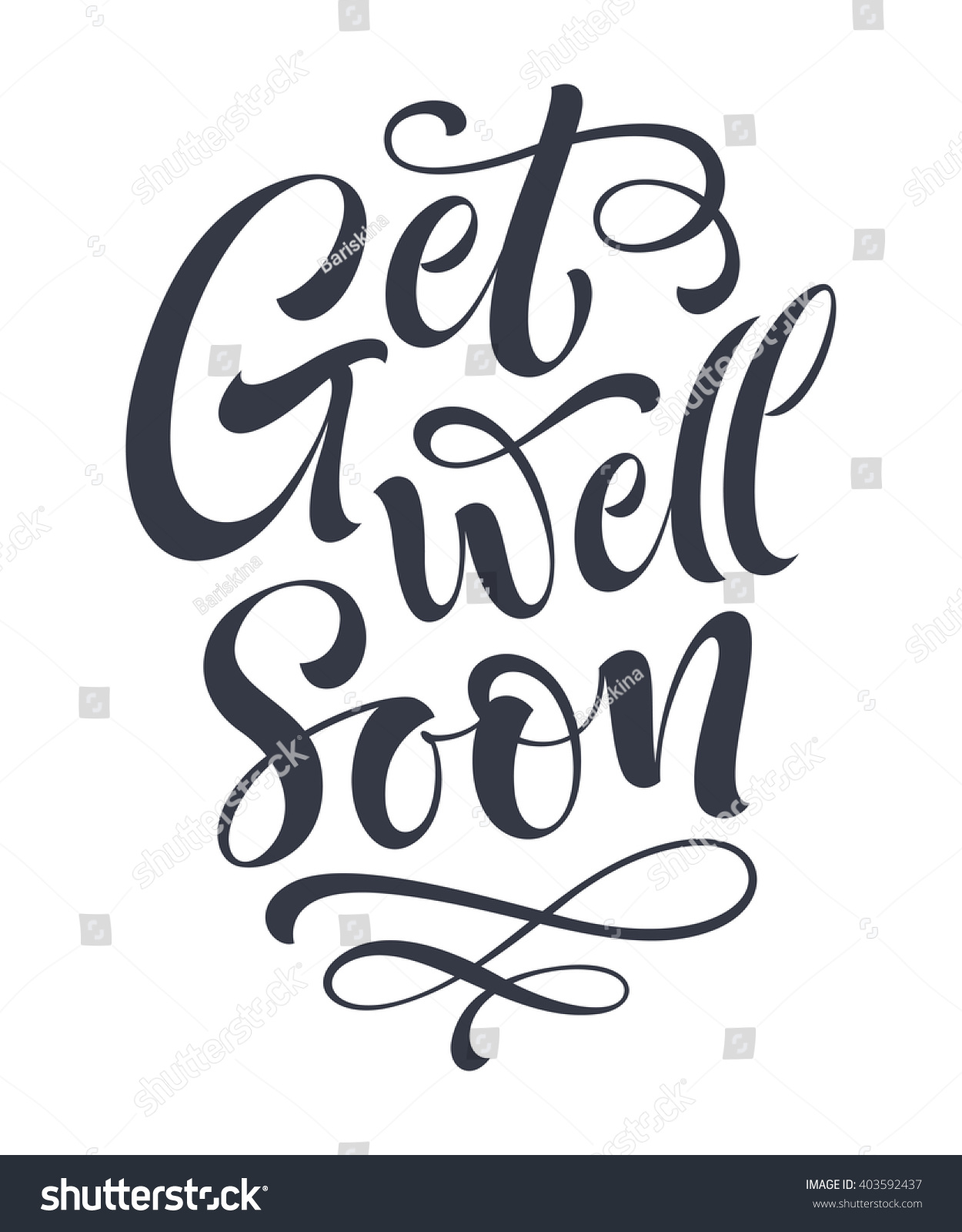 Royalty Free Get Well Soon Vector Text On Color 403592437 Stock