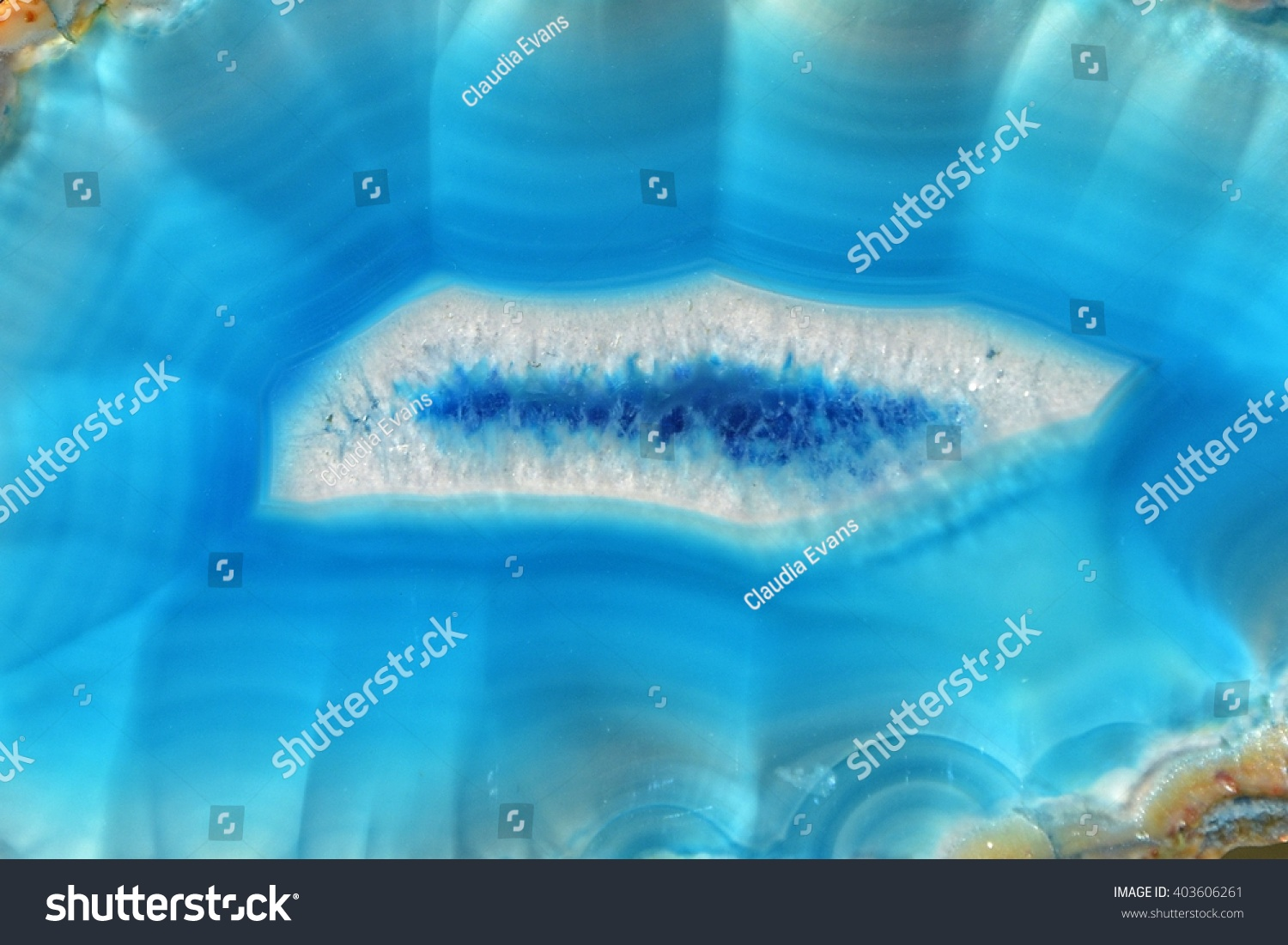 Light Blue Agate Slice Detail Stock Photo Edit Now 403606261 The Wet Brush Gemstone Teal In