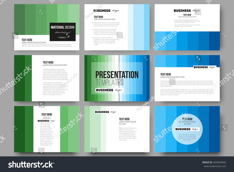 Set 9 Vector Templates Presentation Slides Stock Vector 403609006 ...