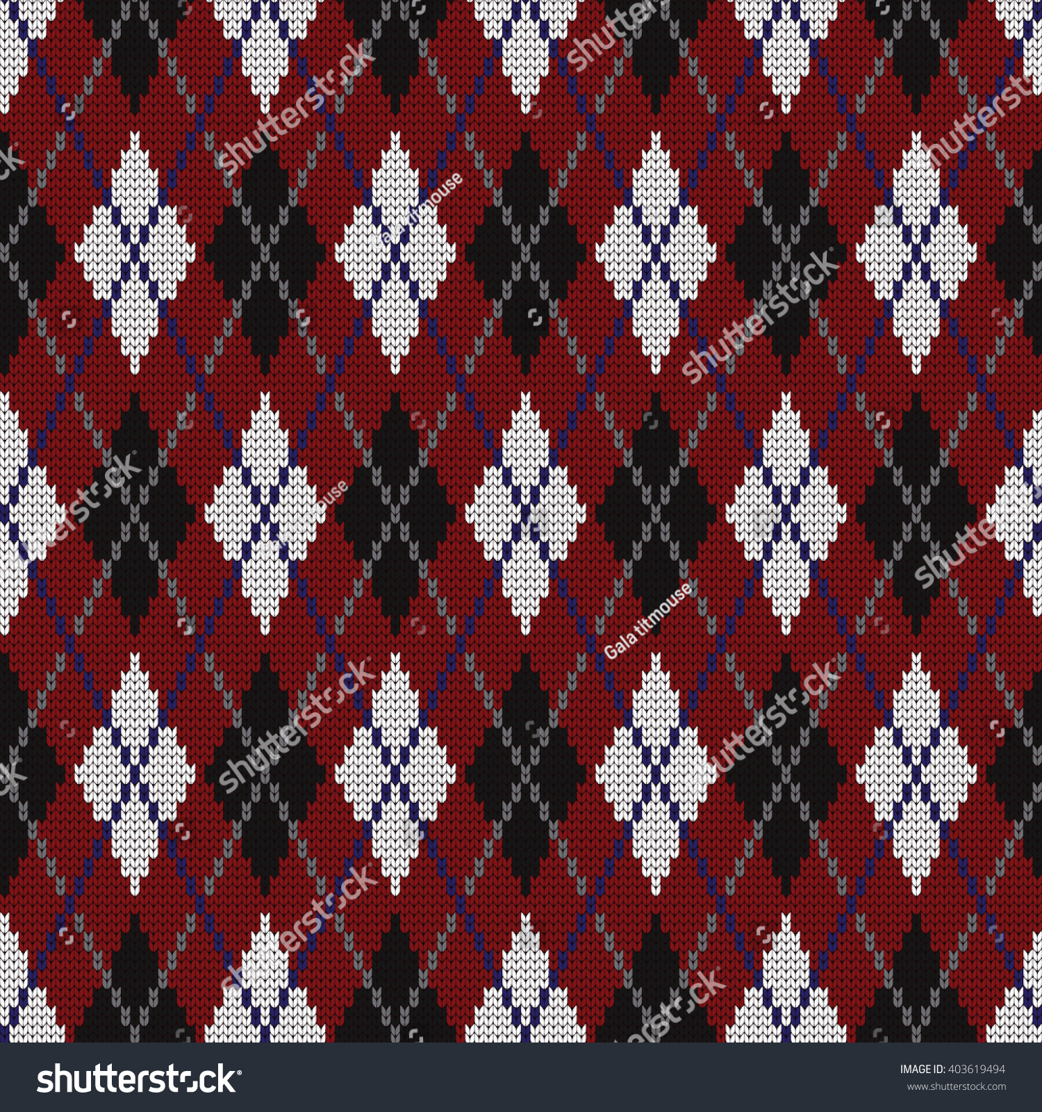 Knitted Seamless Pattern Argyle Stock Vector Illustration ...