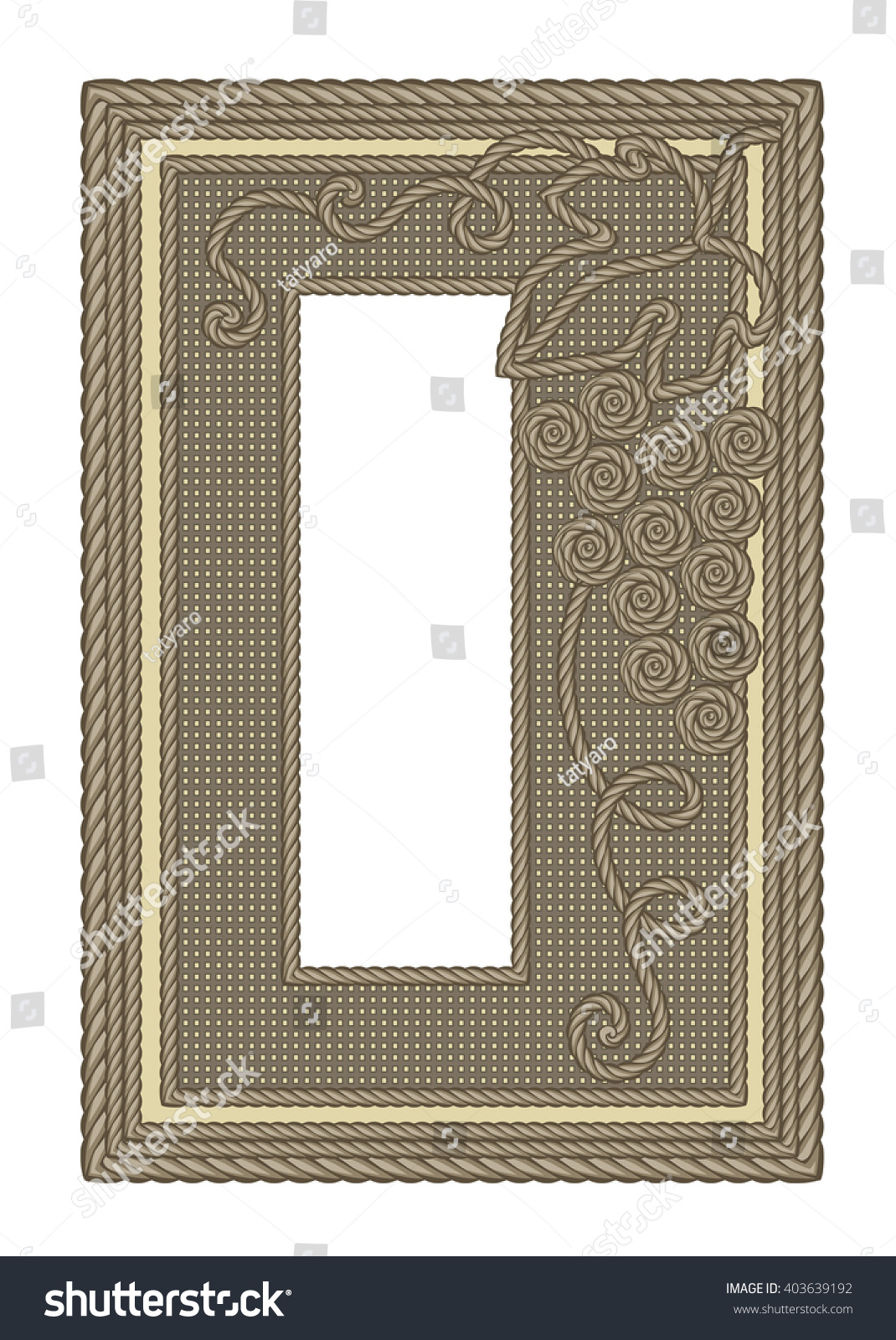 Decorative Frame Pattern Form Grapes Laid Stock Vector 403639192 ...