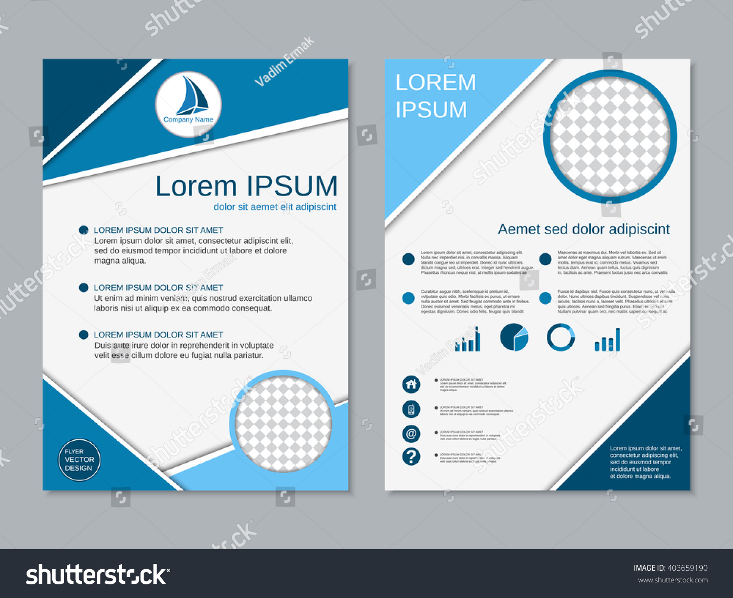 Royaltyfree Professional Twosided Booklet Template - Double sided brochure template