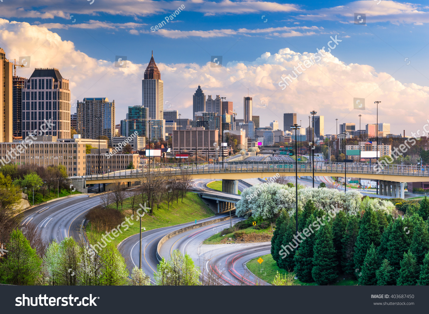 atlanta georgia usa downtown skyline stock photo 403687450 shutterstock. Black Bedroom Furniture Sets. Home Design Ideas