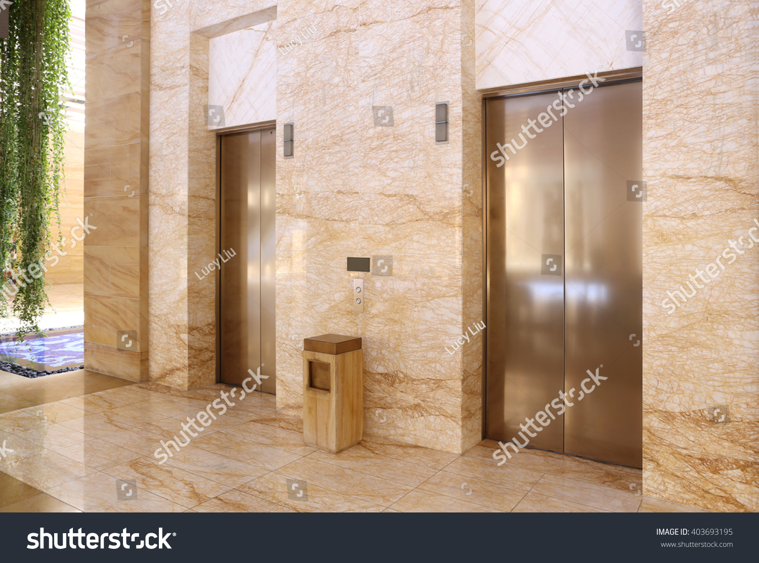 Modern elevator in a commercial building stock photo for Modern elevator design