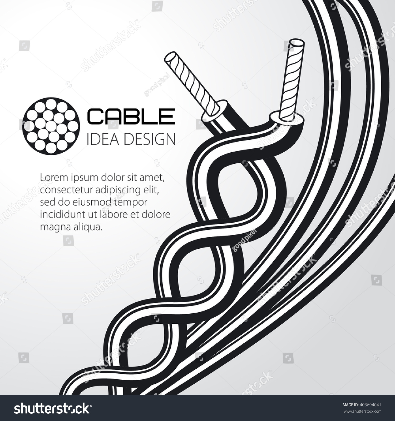 Cable Wire Vector Design Stock Vector HD (Royalty Free) 403694041 ...