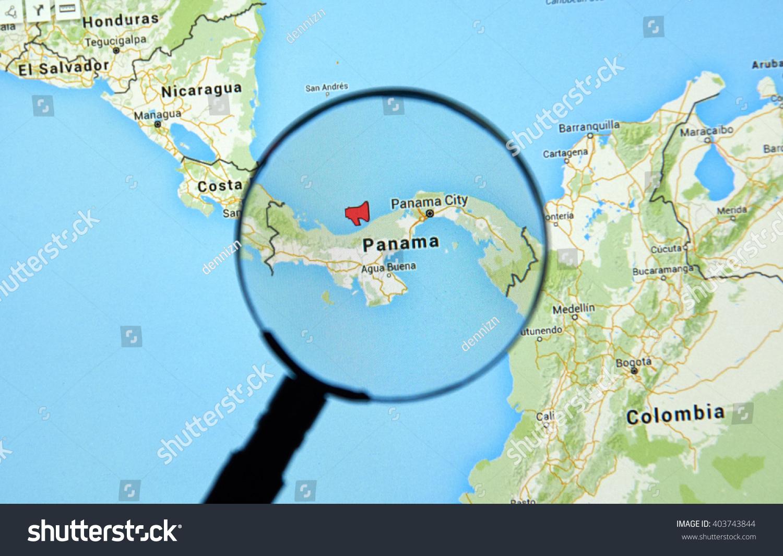 Montreal canada april 7 2016 panama stock photo 403743844 montreal canada april 7 2016 panama on a map with mouthpiece icon gumiabroncs Gallery