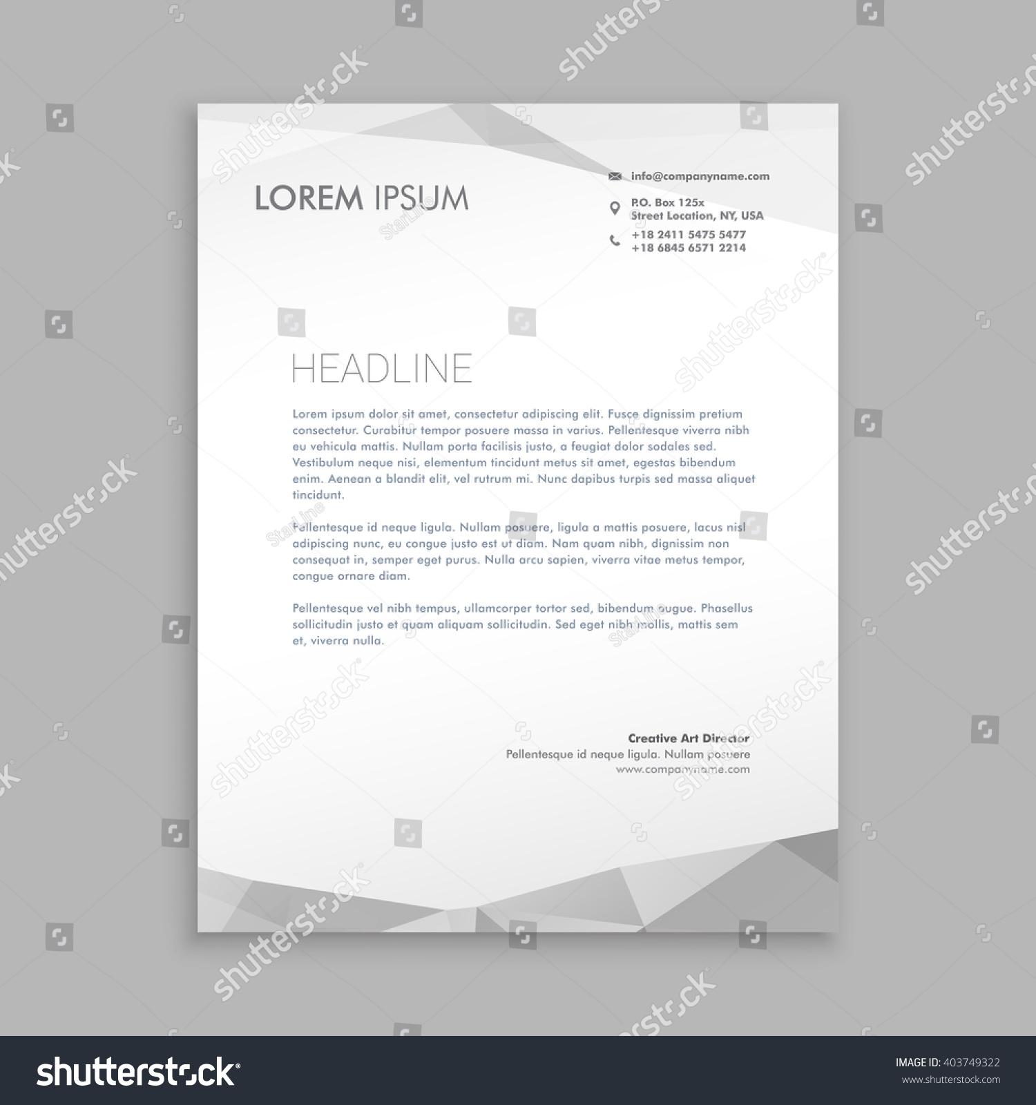 Stylish Modern Letterhead Design Stock Vector 403749322 - Shutterstock