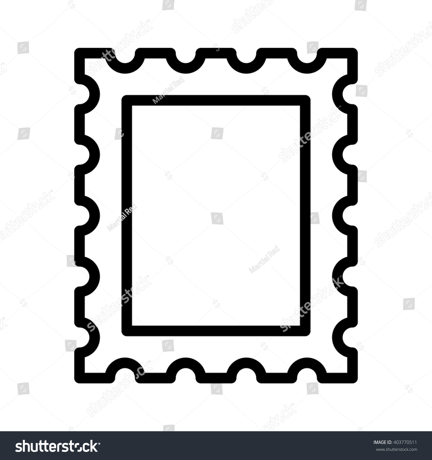 mail letter postage stamp line art icon for apps and websites